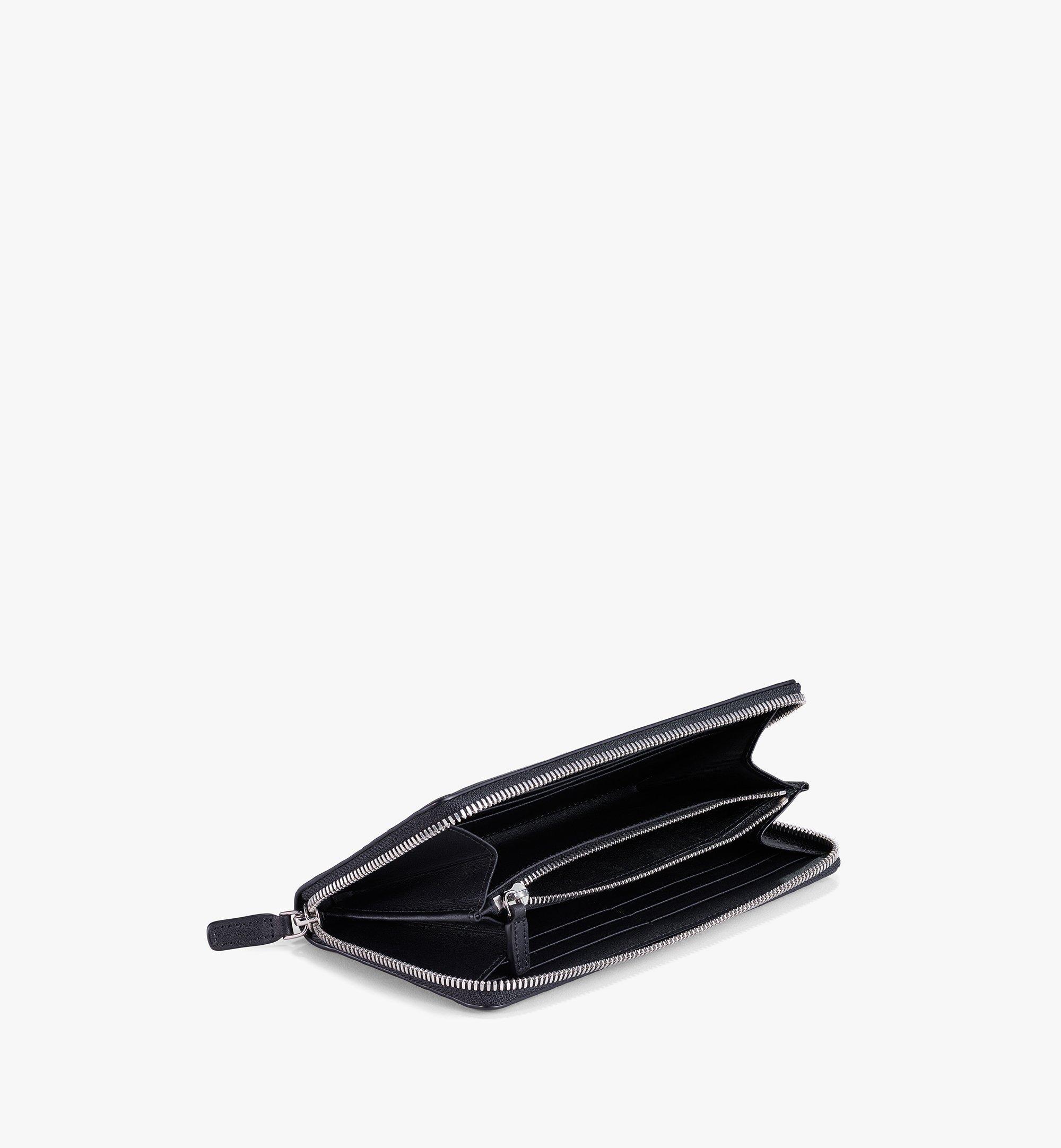 MCM Zip Around Wallet in MCM Monogram Leather Black MYLAAMD01BK001 Alternate View 1