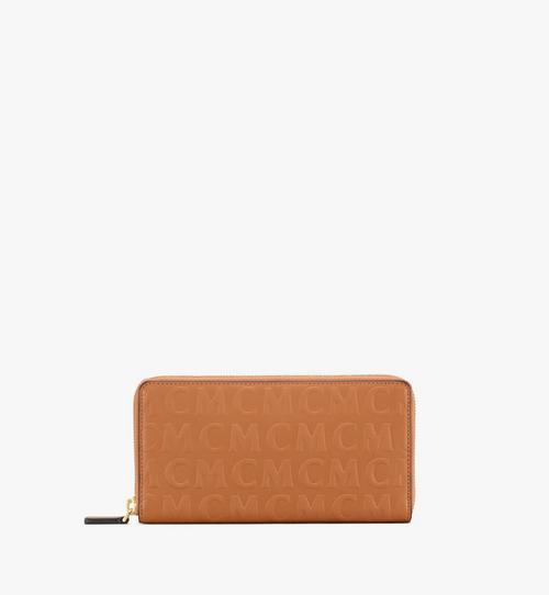 Zip Around Wallet in MCM Monogram Leather