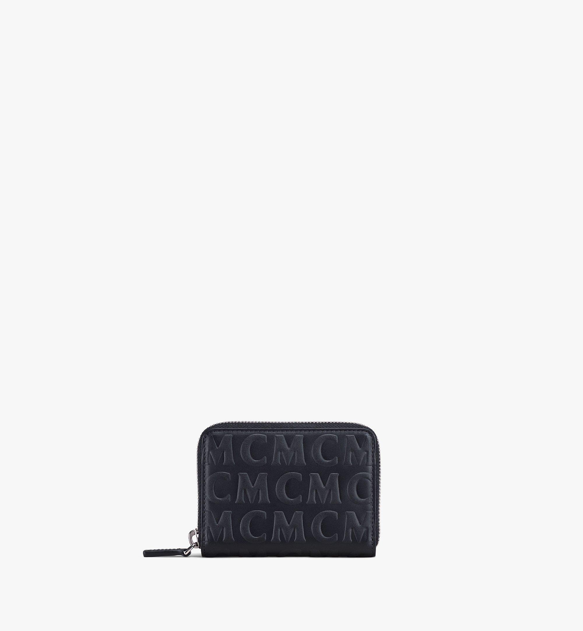 MCM Zip Around Wallet in MCM Monogram Leather Black MYLAAMD02BK001 Alternate View 1