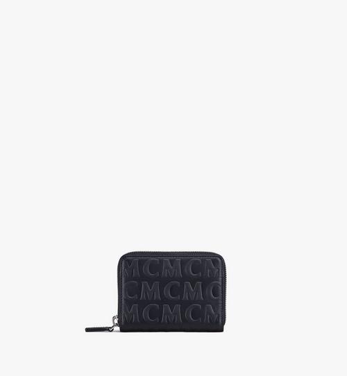MCM 모노그램 레더 집어라운드 지갑