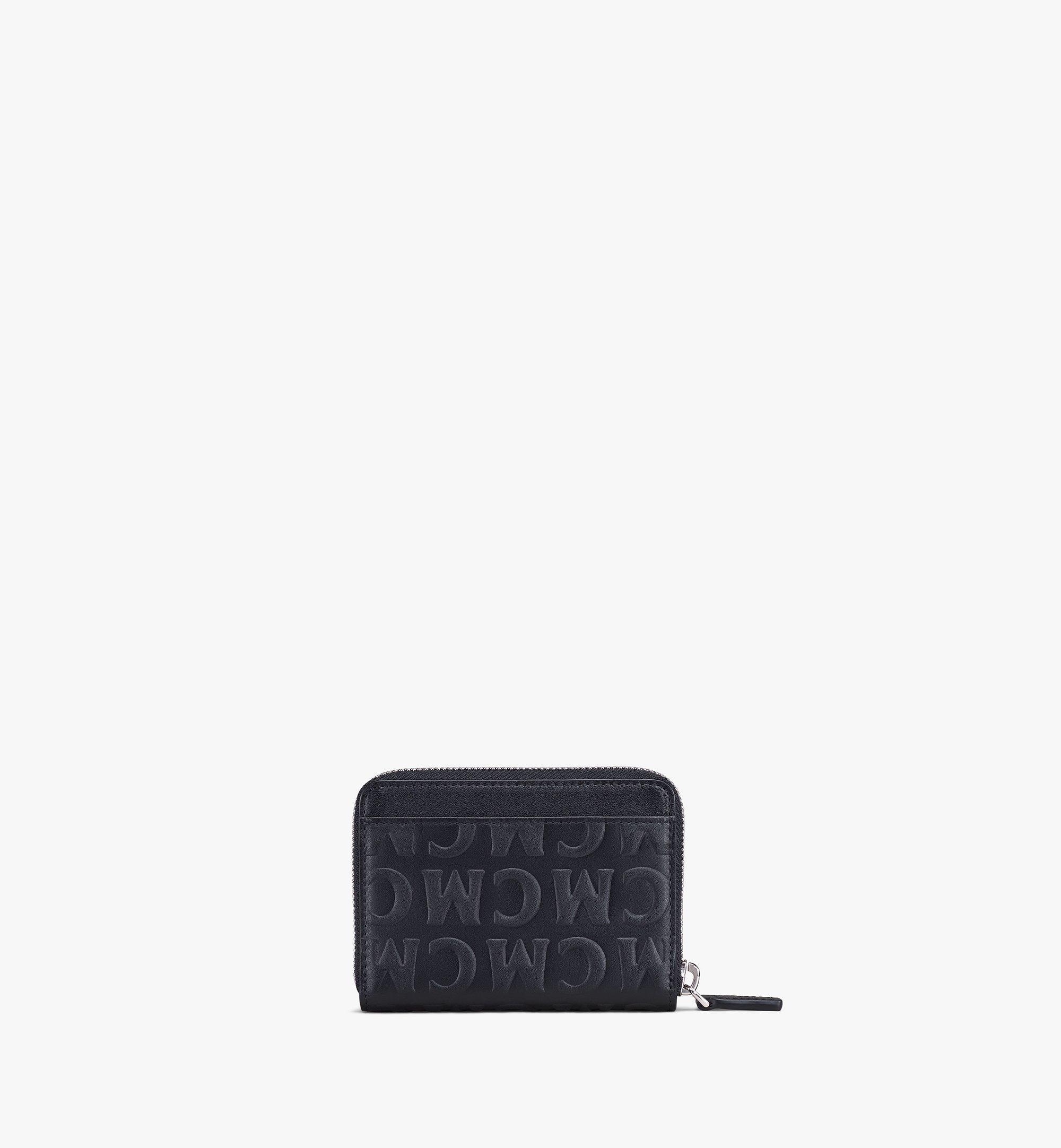 MCM Zip Around Wallet in MCM Monogram Leather Black MYLAAMD02BK001 Alternate View 2