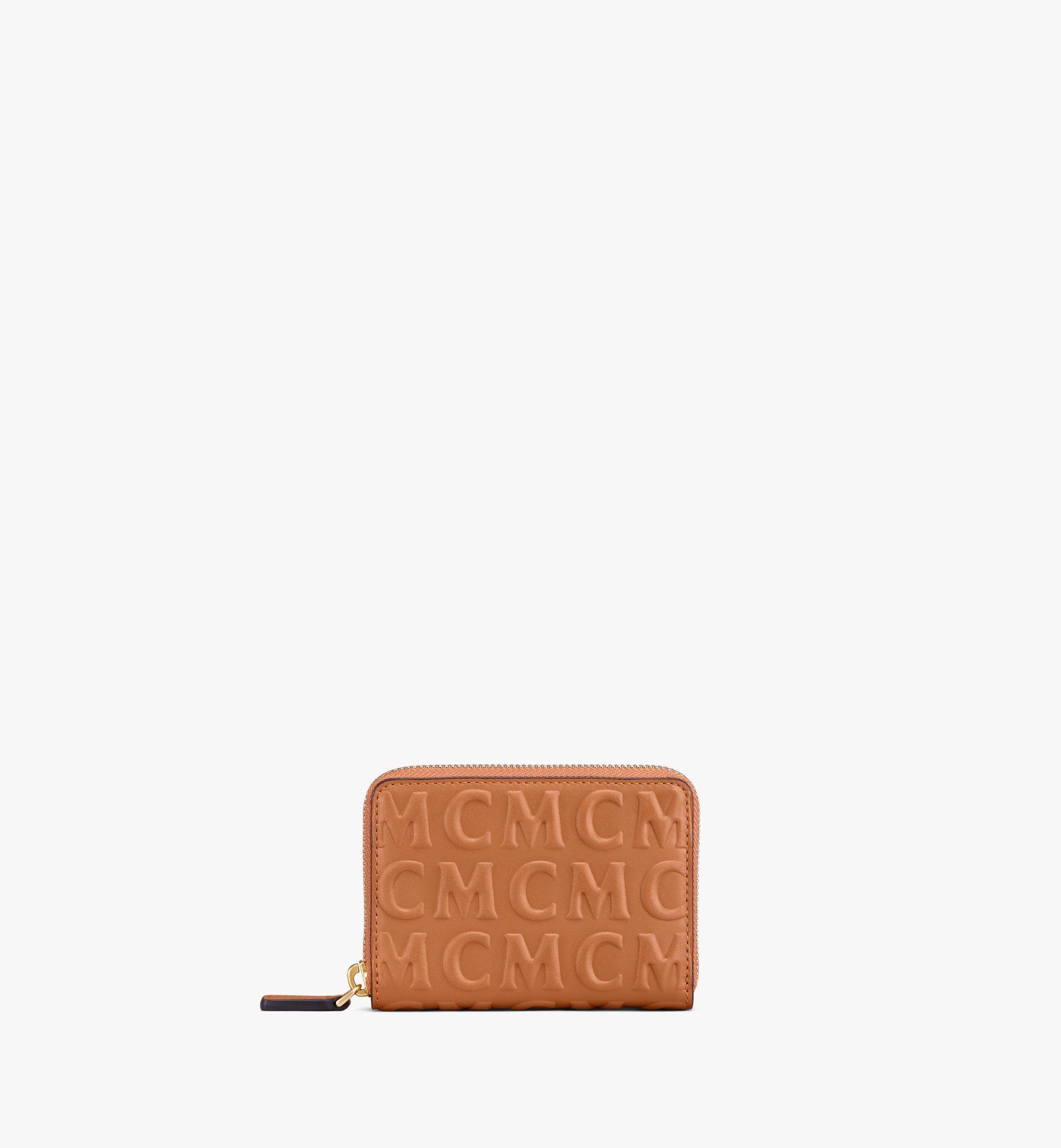 MCM Zip Around Wallet in MCM Monogram Leather Cognac MYLAAMD02CO001 Alternate View 1