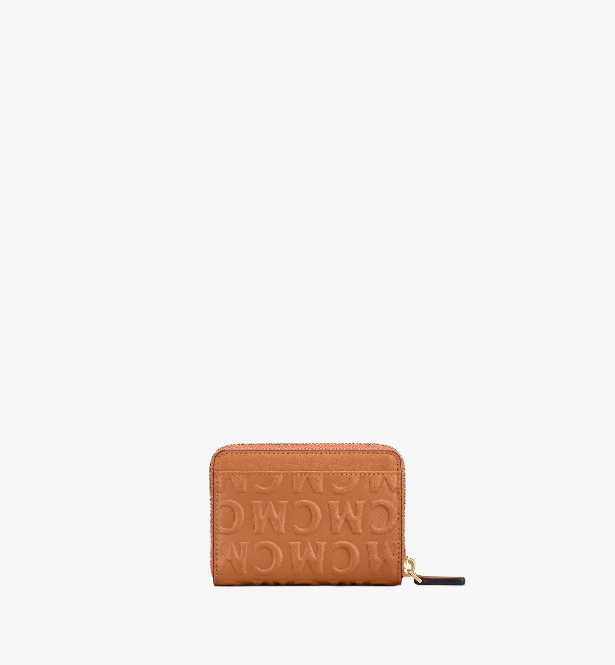 MCM Zip Around Wallet in MCM Monogram Leather Cognac MYLAAMD02CO001 Alternate View 2