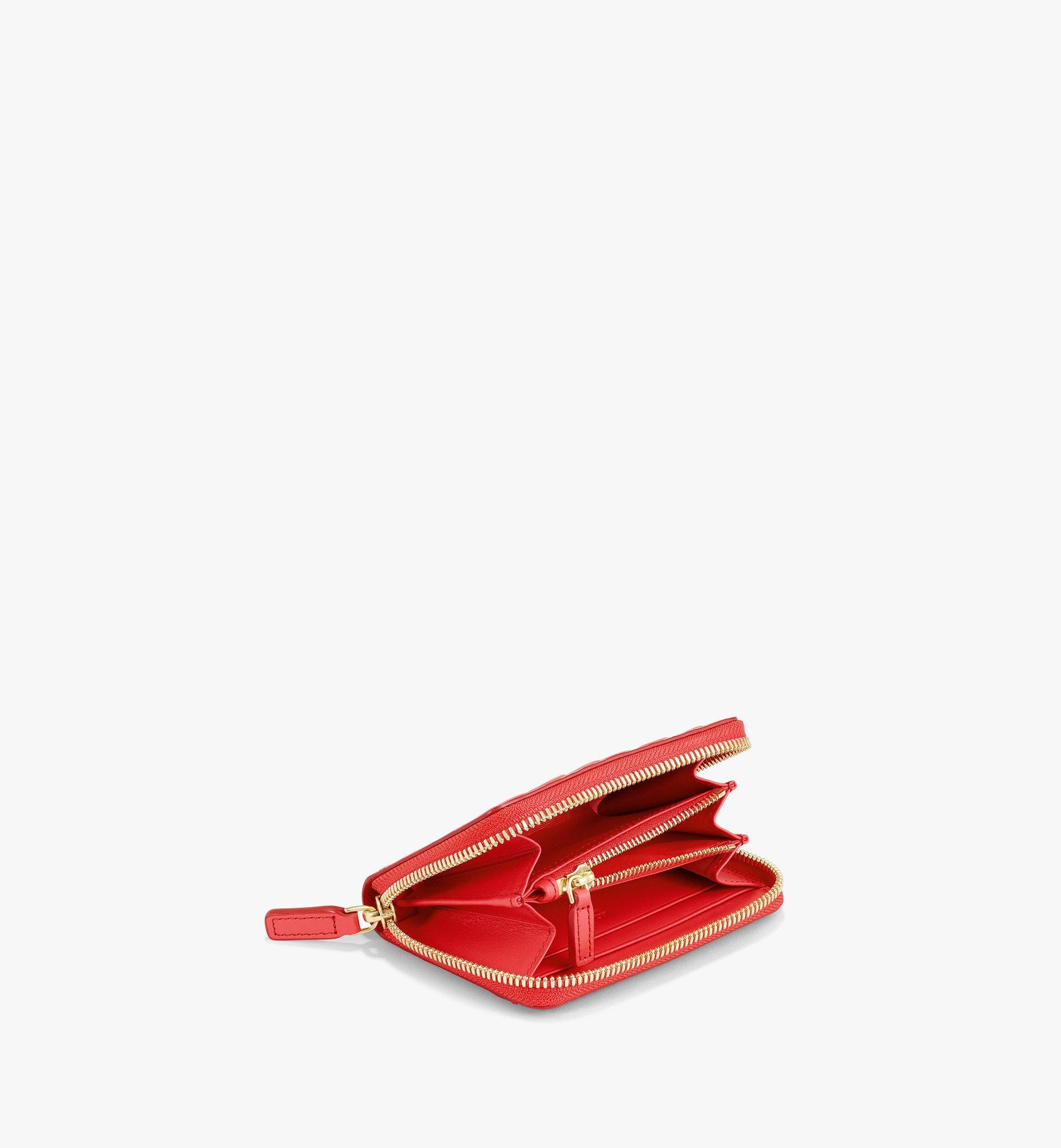 MCM Zip Around Wallet in MCM Monogram Leather Red MYLAAMD02RP001 Alternate View 1