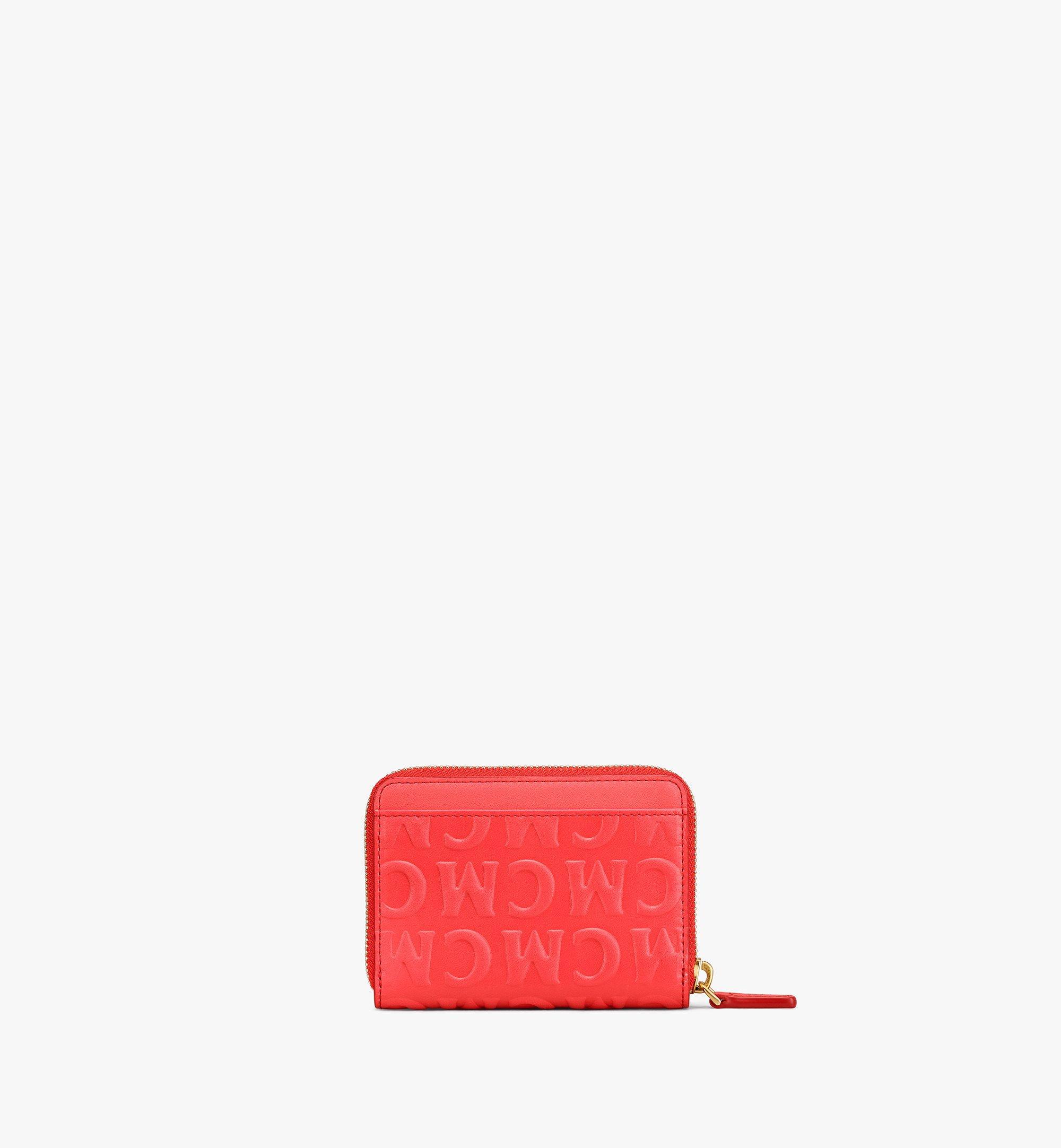 MCM Zip Around Wallet in MCM Monogram Leather Red MYLAAMD02RP001 Alternate View 2