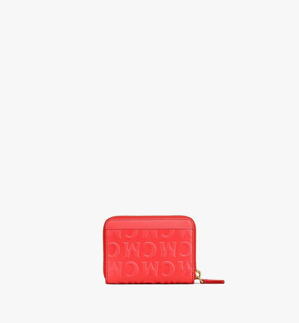 MCM Zip Around Wallet in MCM Monogram Leather Red MYLAAMD02RP001 Alternate View 2