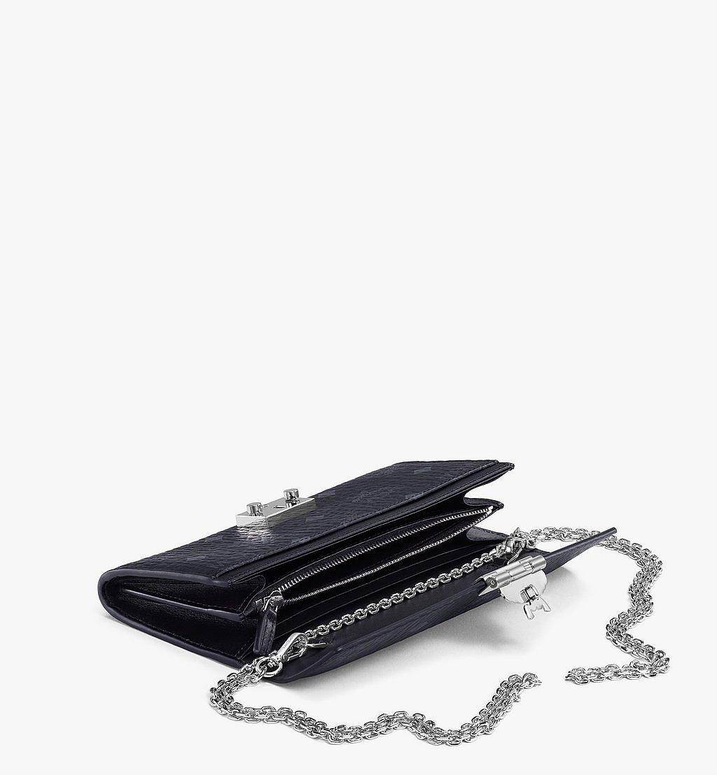 MCM Patricia Crossbody Wallet in Visetos Black MYLAAPA02BK001 Alternate View 2