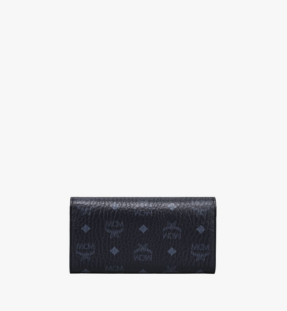 MCM Patricia Crossbody Wallet in Visetos Black MYLAAPA02BK001 Alternate View 3