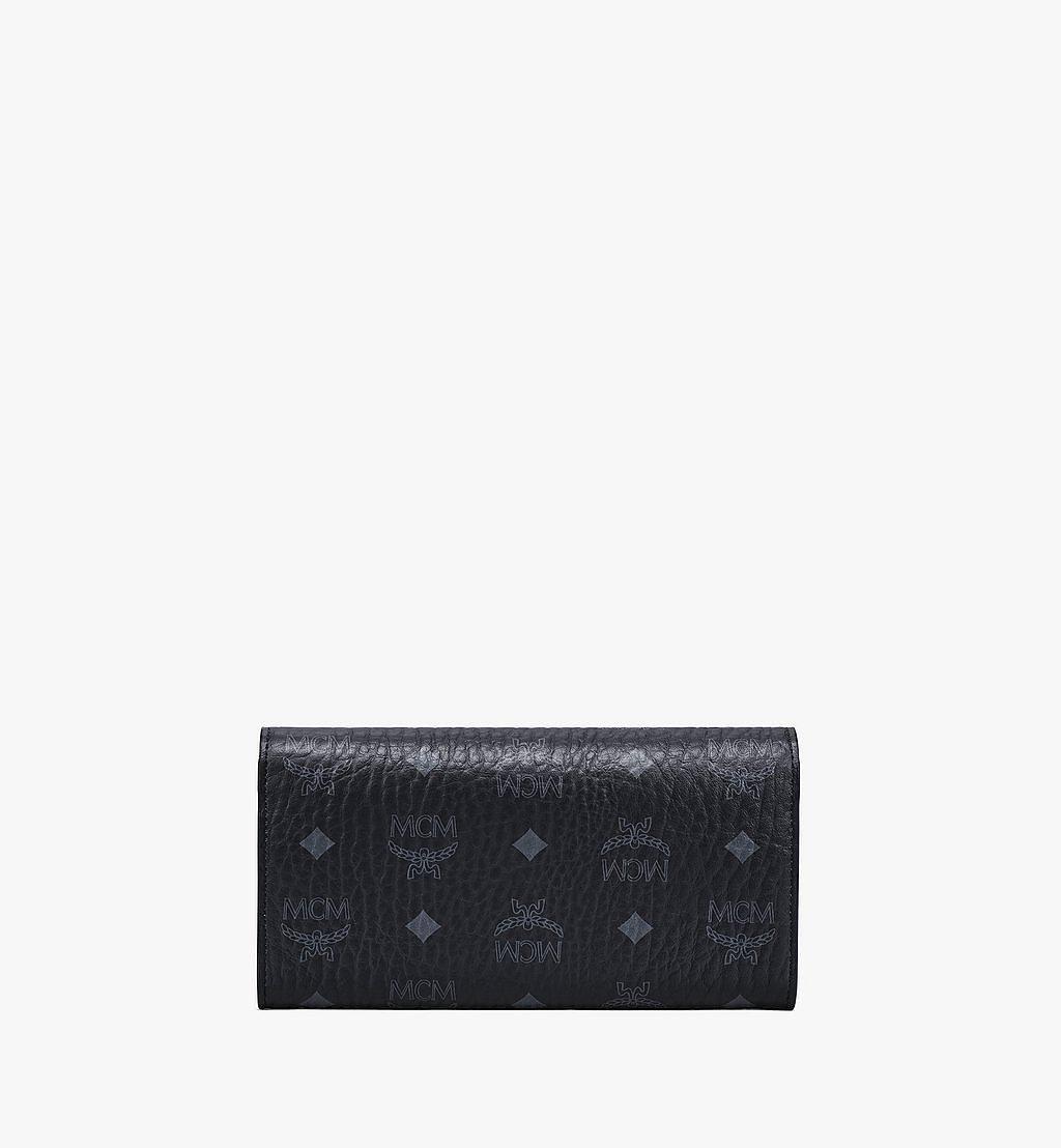 MCM Patricia Crossbody Wallet in Visetos Black MYLAAPA02BK001 Alternate View 3