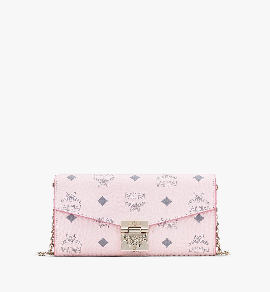 MCM Patricia Crossbody Wallet in Visetos Pink MYLAAPA02QH001 Alternate View 1