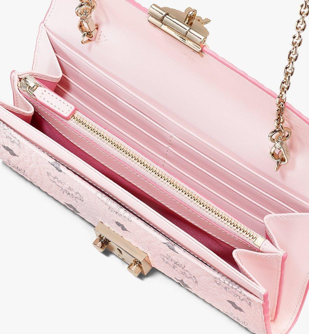 MCM Patricia Crossbody Wallet in Visetos Pink MYLAAPA02QH001 Alternate View 2