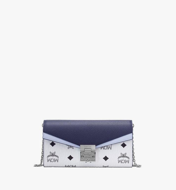 MCM Patricia Crossbody Wallet in Color Block Visetos Blue MYLAAPA03VW001 Alternate View 1