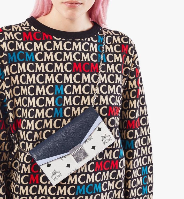 MCM Patricia Crossbody-Brieftasche in Colorblock-Visetos Blue MYLAAPA03VW001 Alternate View 5