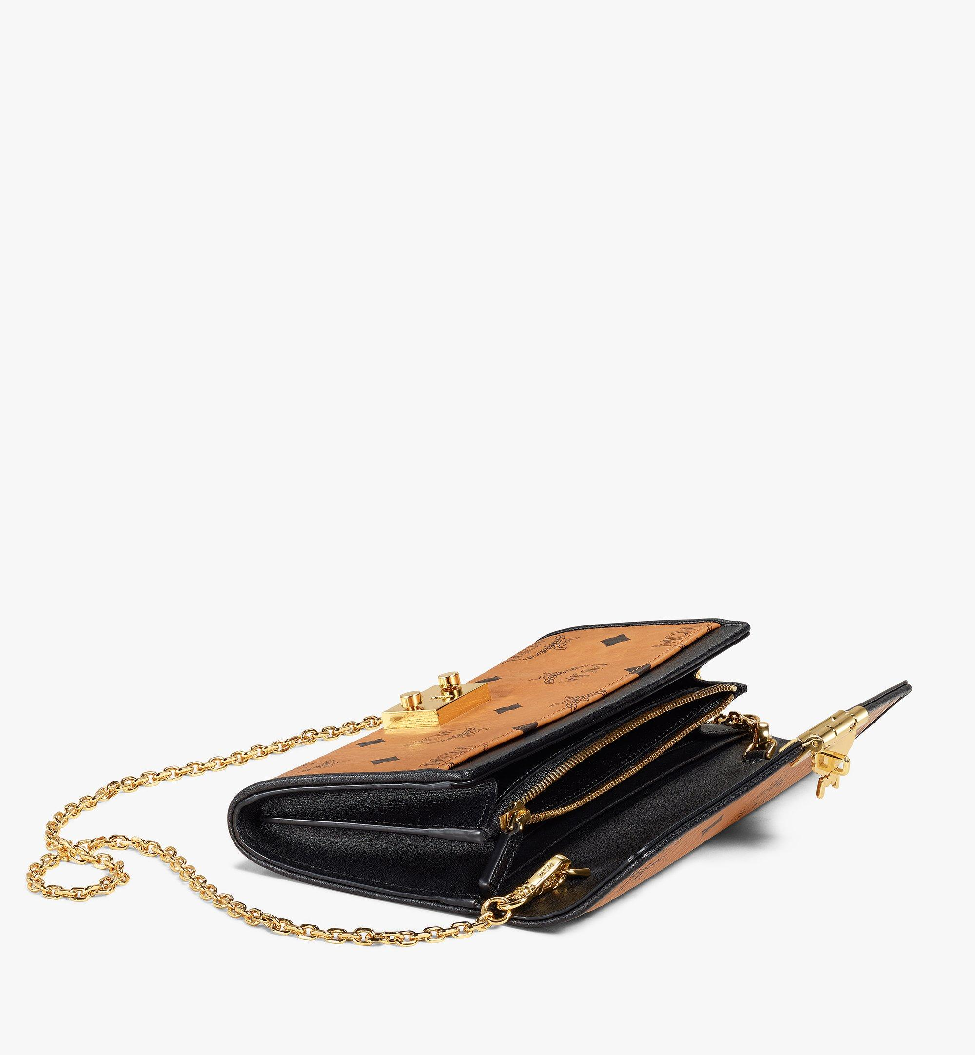 MCM Patricia Crossbody Wallet in Visetos Leather Block Cognac MYLAAPA04CO001 Alternate View 1