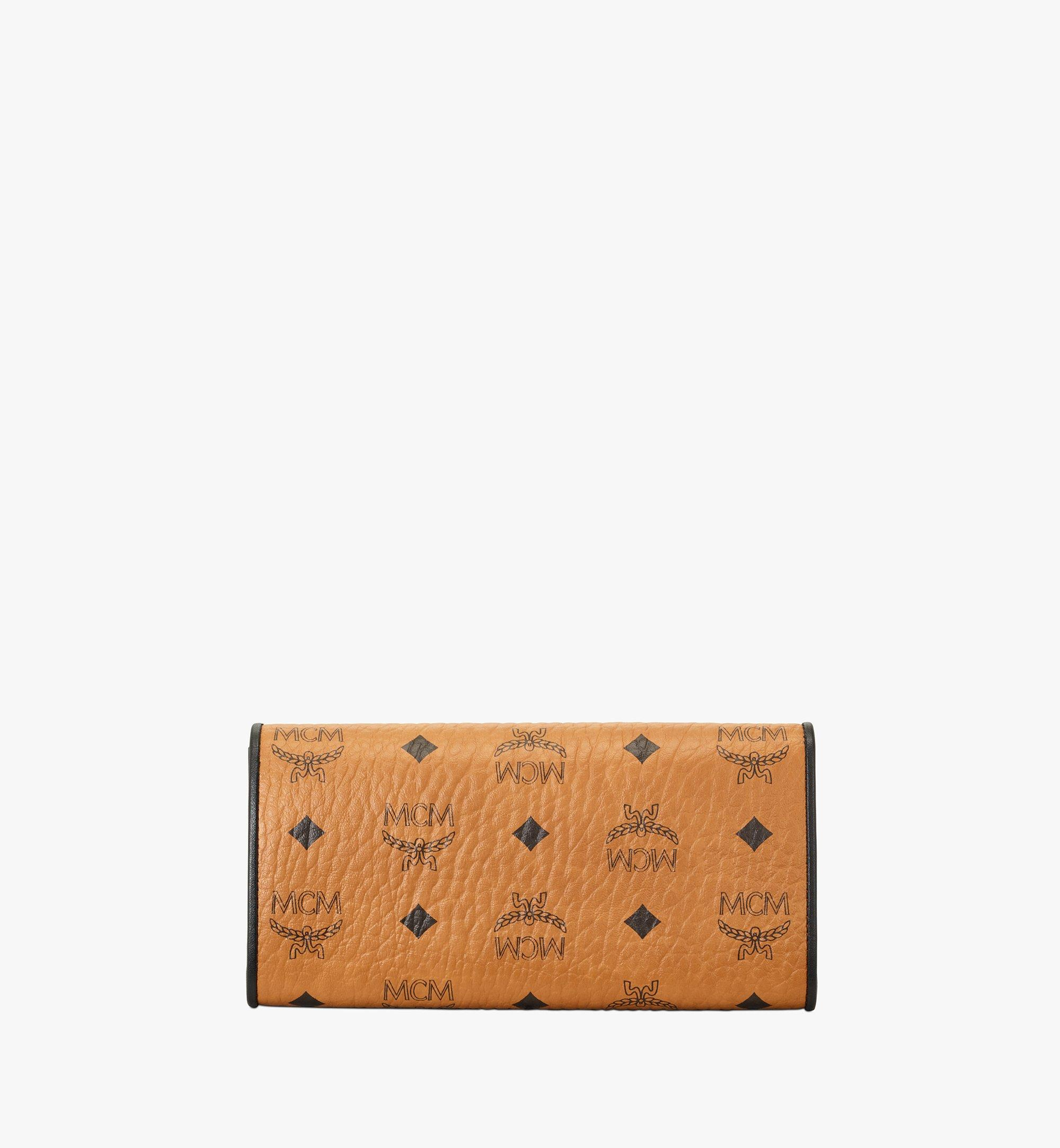 MCM Patricia Crossbody Wallet in Visetos Leather Block Cognac MYLAAPA04CO001 Alternate View 2