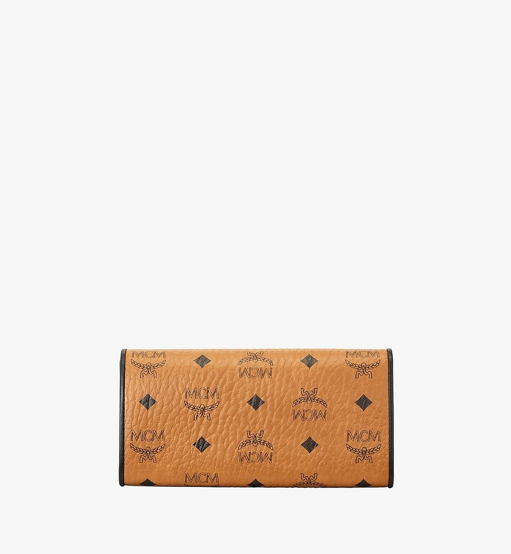 MCM Patricia Crossbody Wallet in Visetos Leather Block Cognac MYLAAPA04CO001 Alternate View 2