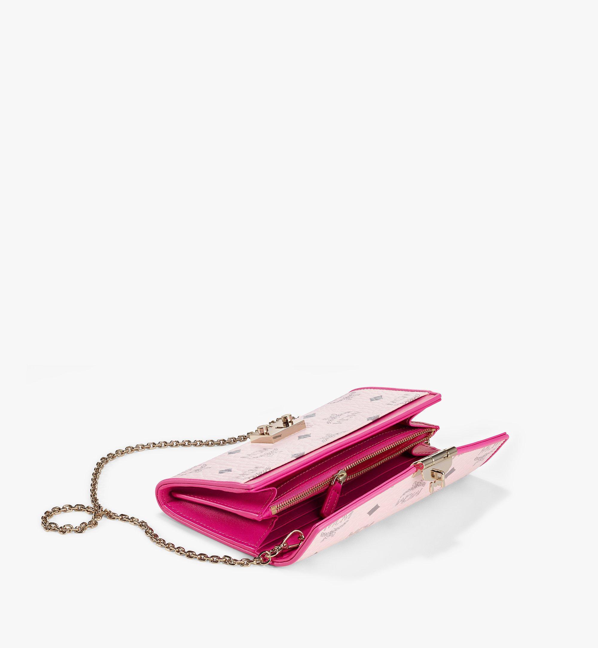 MCM Patricia Crossbody Wallet in Visetos Leather Block Pink MYLAAPA04QH001 Alternate View 1