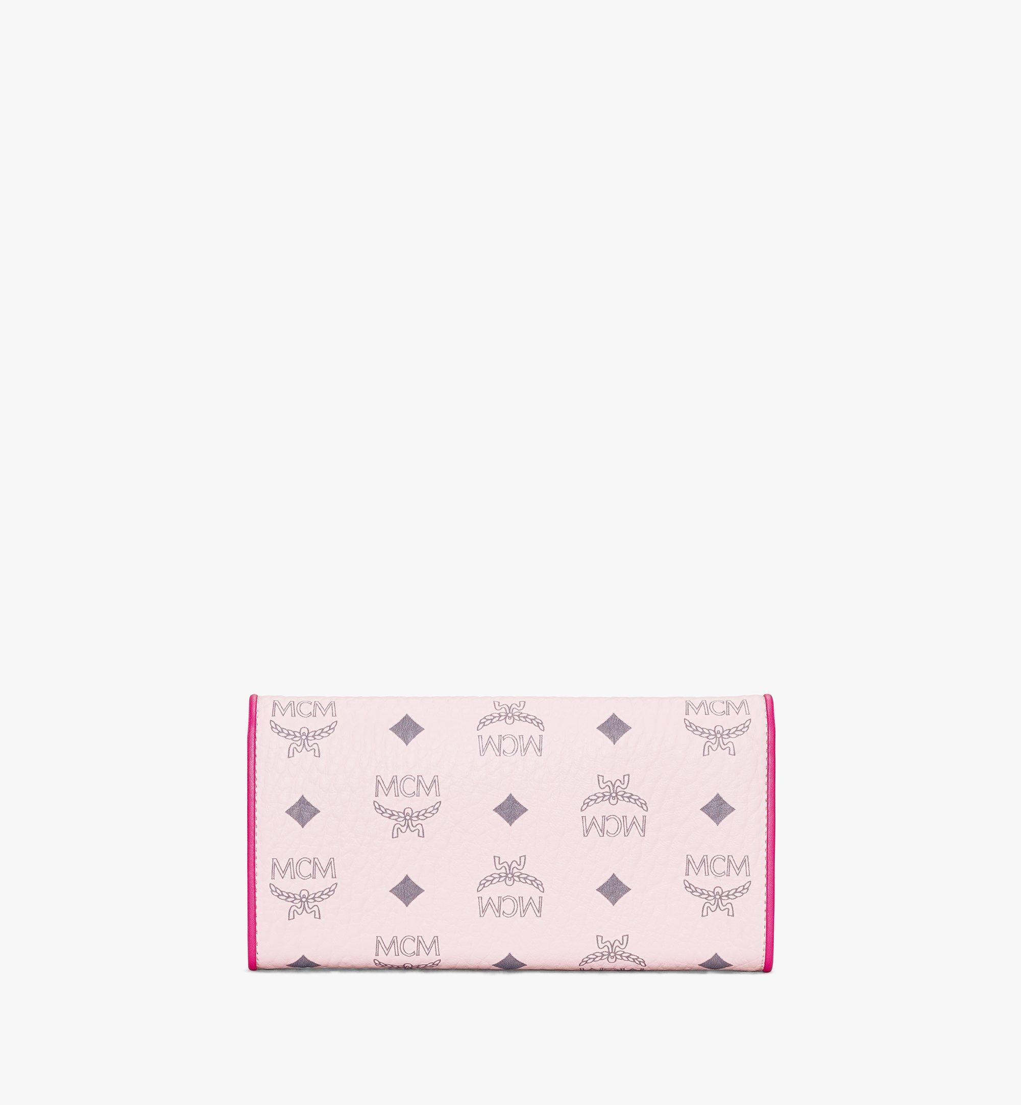 MCM Patricia Crossbody Wallet in Visetos Leather Block Pink MYLAAPA04QH001 Alternate View 2