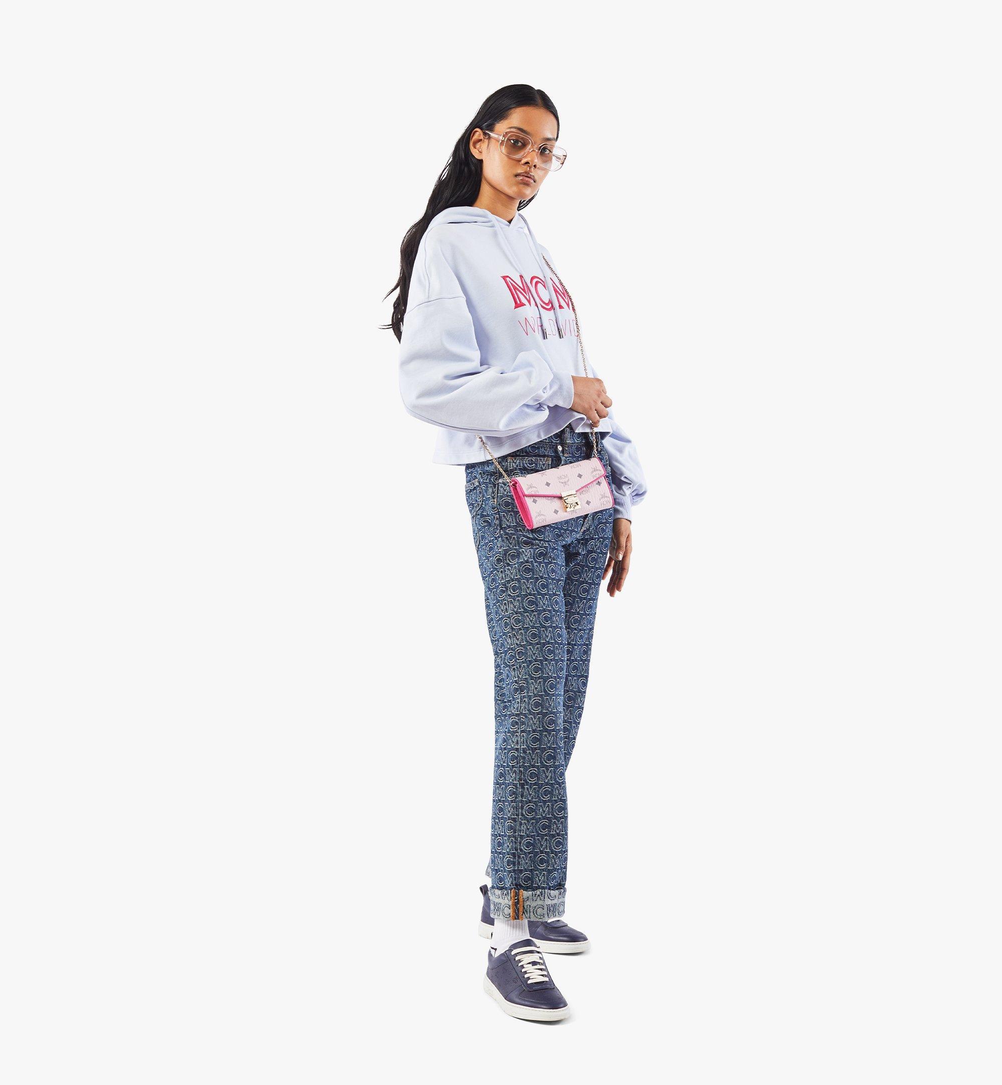 MCM Patricia Crossbody Wallet in Visetos Leather Block Pink MYLAAPA04QH001 Alternate View 3