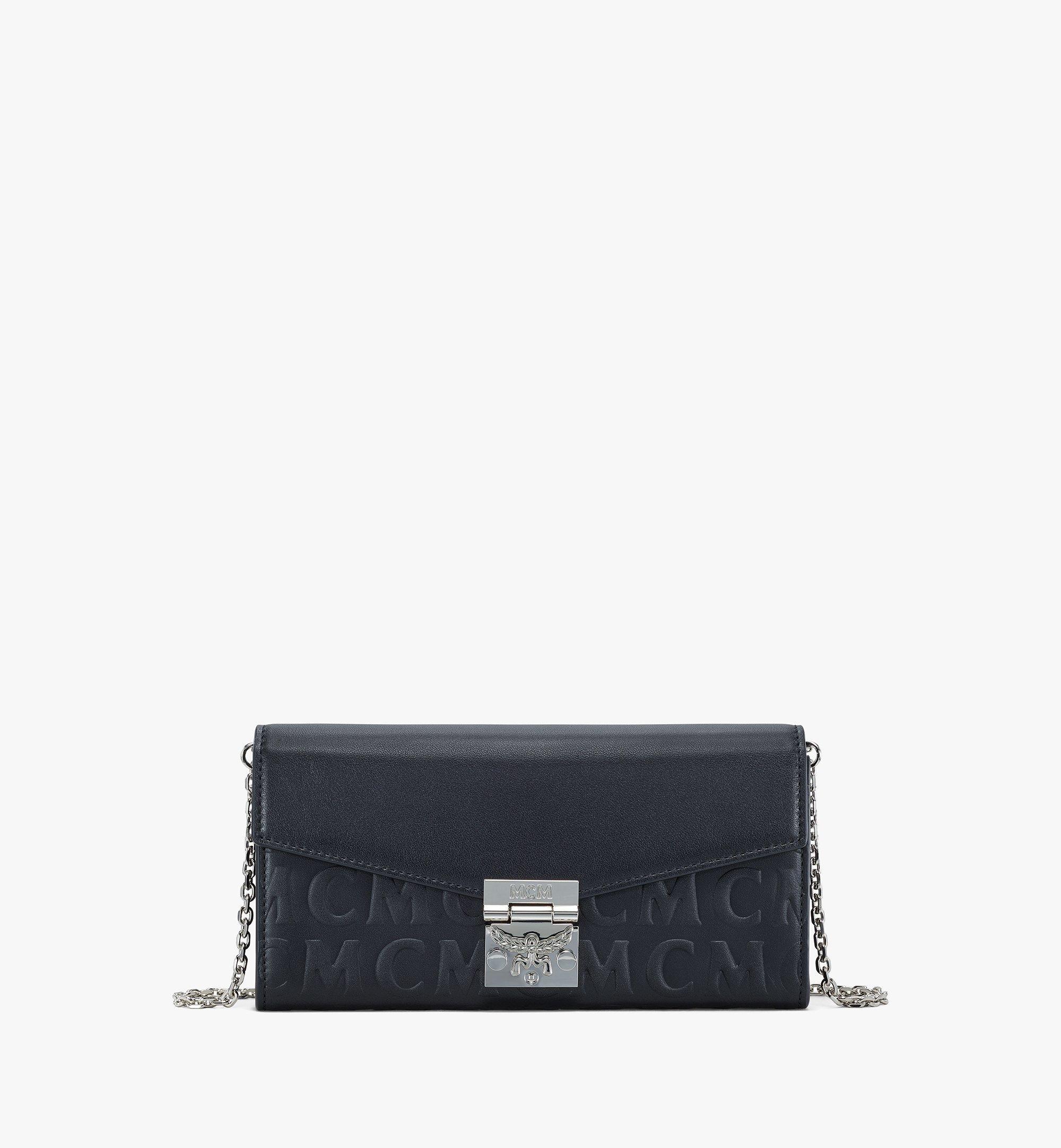 MCM Patricia Crossbody Wallet in MCM Monogram Leather Black MYLAAPA05BK001 Alternate View 1