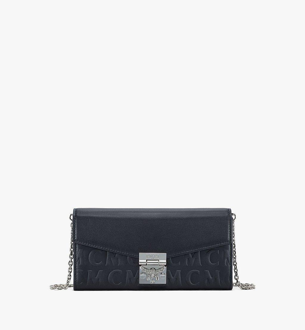 MCM Patricia Crossbody-Brieftasche aus Leder mit MCM-Monogramm Brown MYLAAPA05BK001 Noch mehr sehen 1