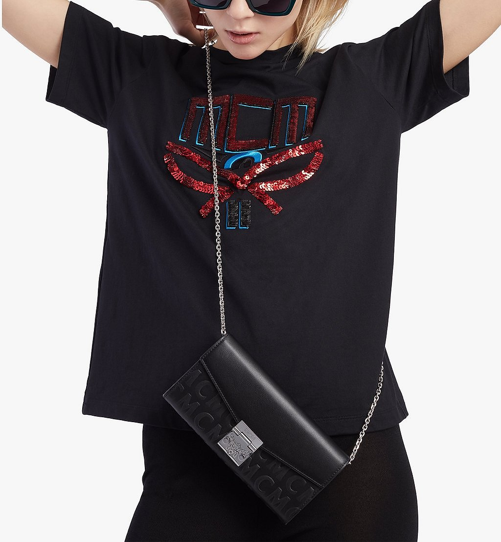 MCM Patricia Crossbody-Brieftasche aus Leder mit MCM-Monogramm Brown MYLAAPA05BK001 Noch mehr sehen 2