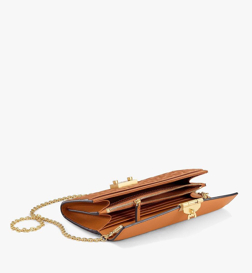MCM Patricia Crossbody-Brieftasche aus Leder mit MCM-Monogramm Brown MYLAAPA05CO001 Noch mehr sehen 1
