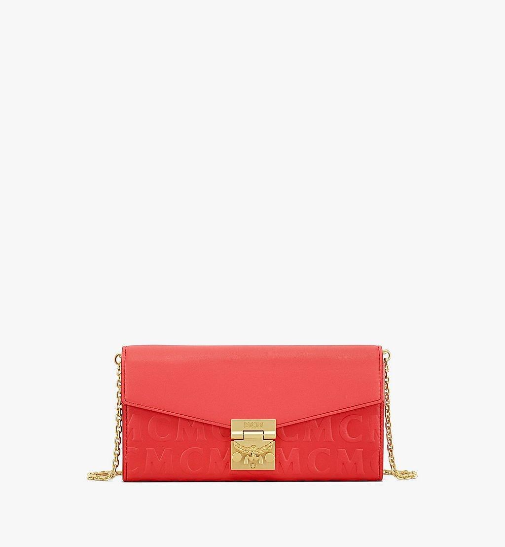 MCM Patricia Crossbody-Brieftasche aus Leder mit MCM-Monogramm Brown MYLAAPA05RP001 Noch mehr sehen 1