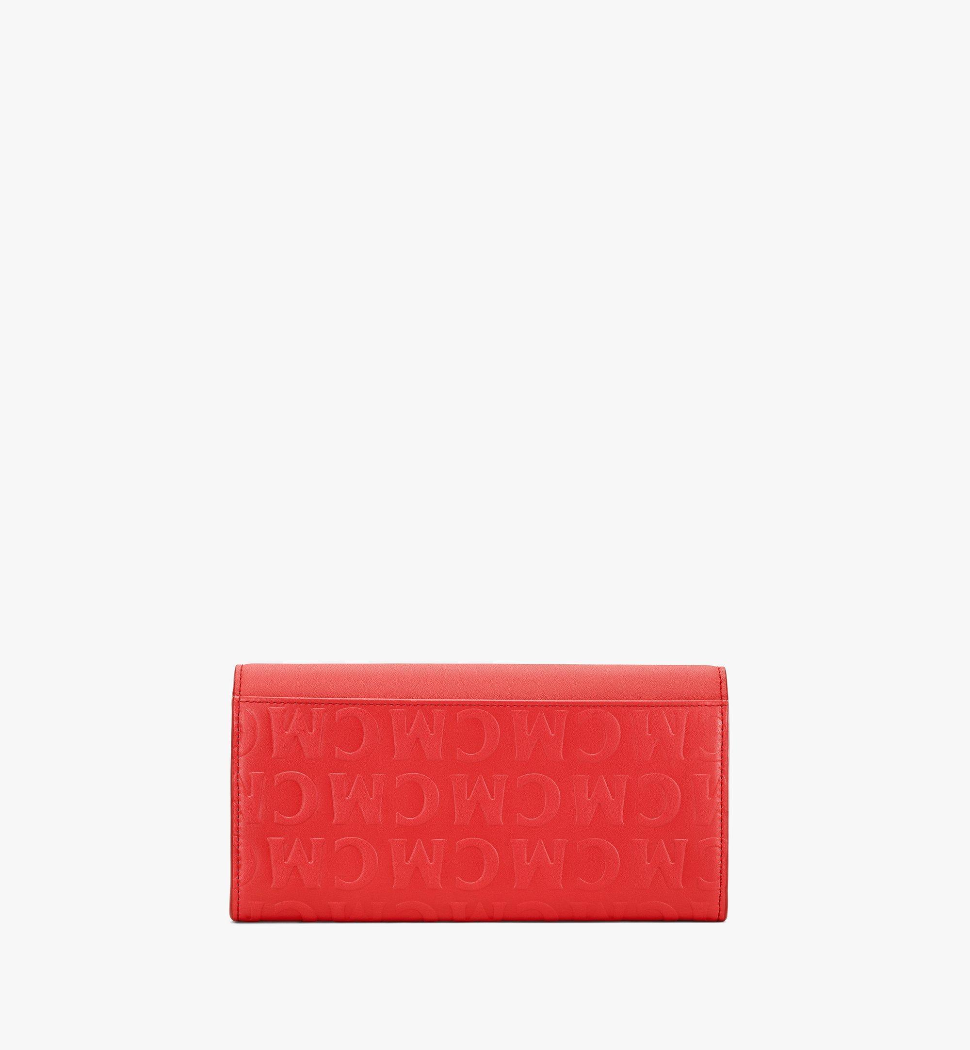 MCM Patricia Crossbody-Brieftasche aus Leder mit MCM-Monogramm Red MYLAAPA05RP001 Noch mehr sehen 2