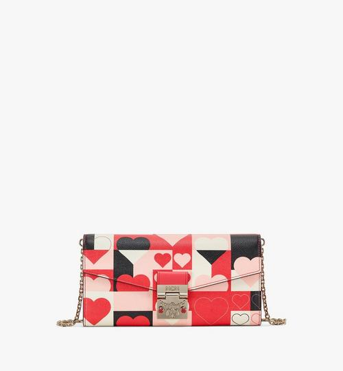 Patricia Crossbody Wallet in Cubic Valentine Leather