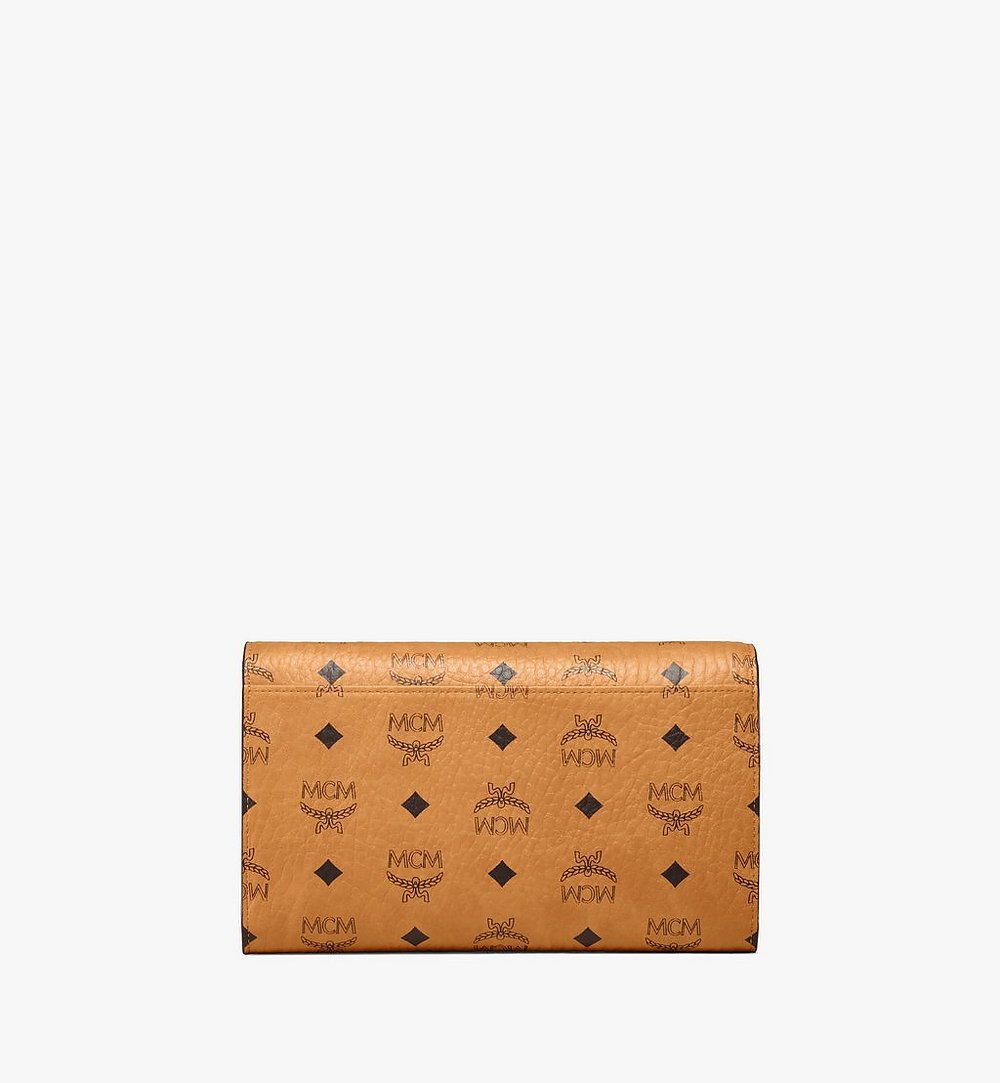 MCM Patricia Continental Crossbody Wallet in Visetos Red MYLAAPA07CO001 Alternate View 2