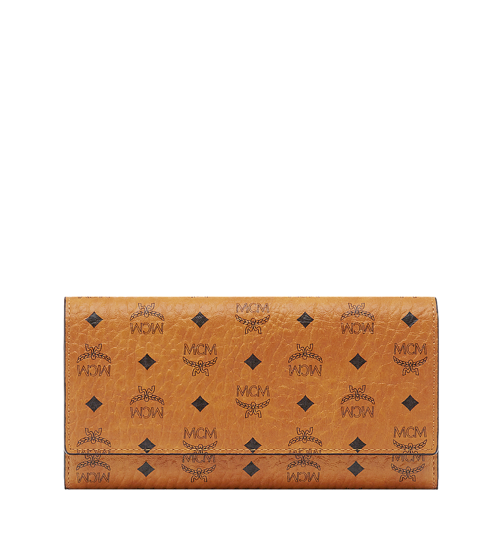 MCM Trifold Wallet in Visetos Original Cognac MYLAAVI01CO001 Alternate View 1