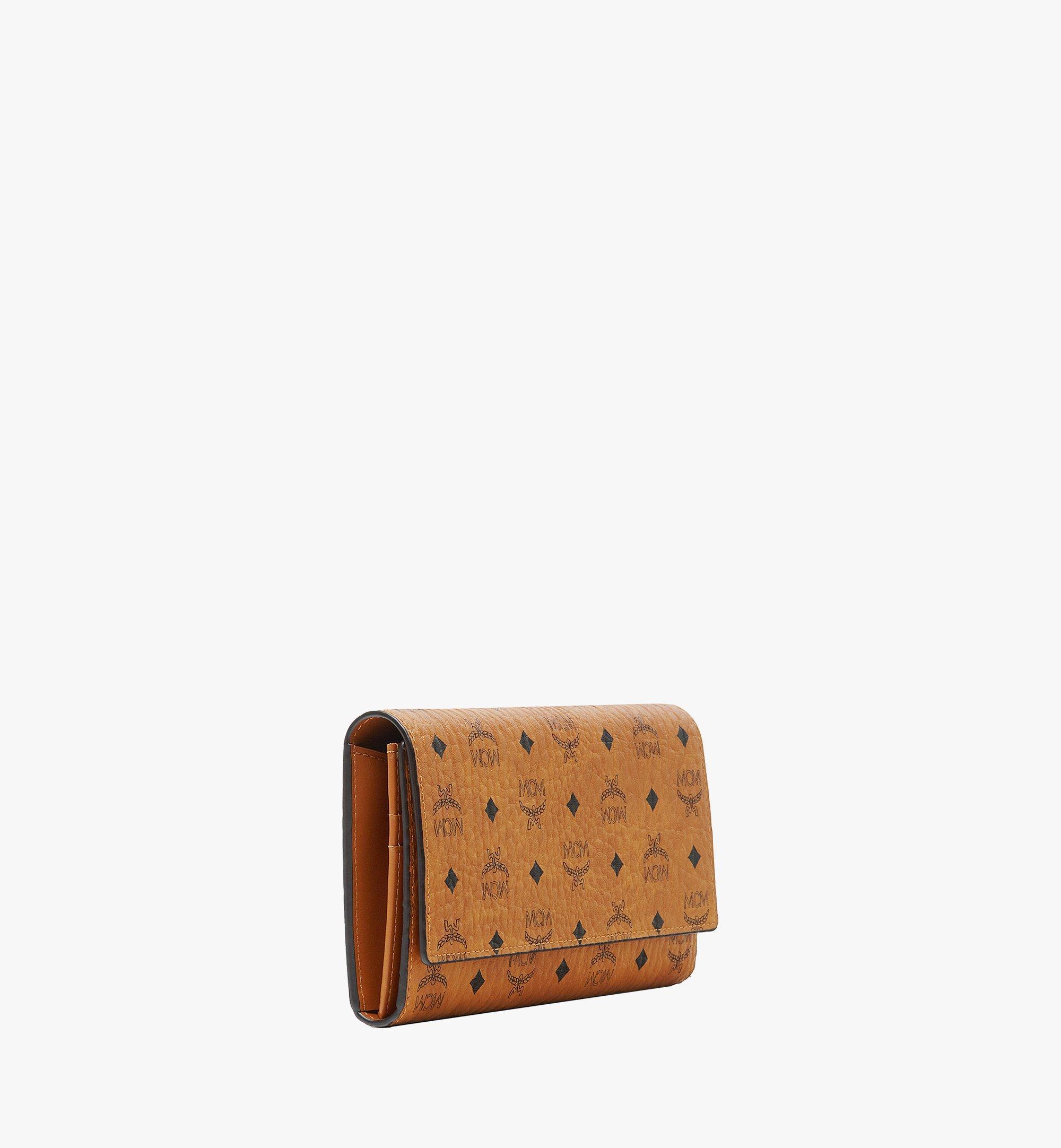 MCM Trifold Wallet in Visetos Original Cognac MYLAAVI01CO001 Alternate View 1