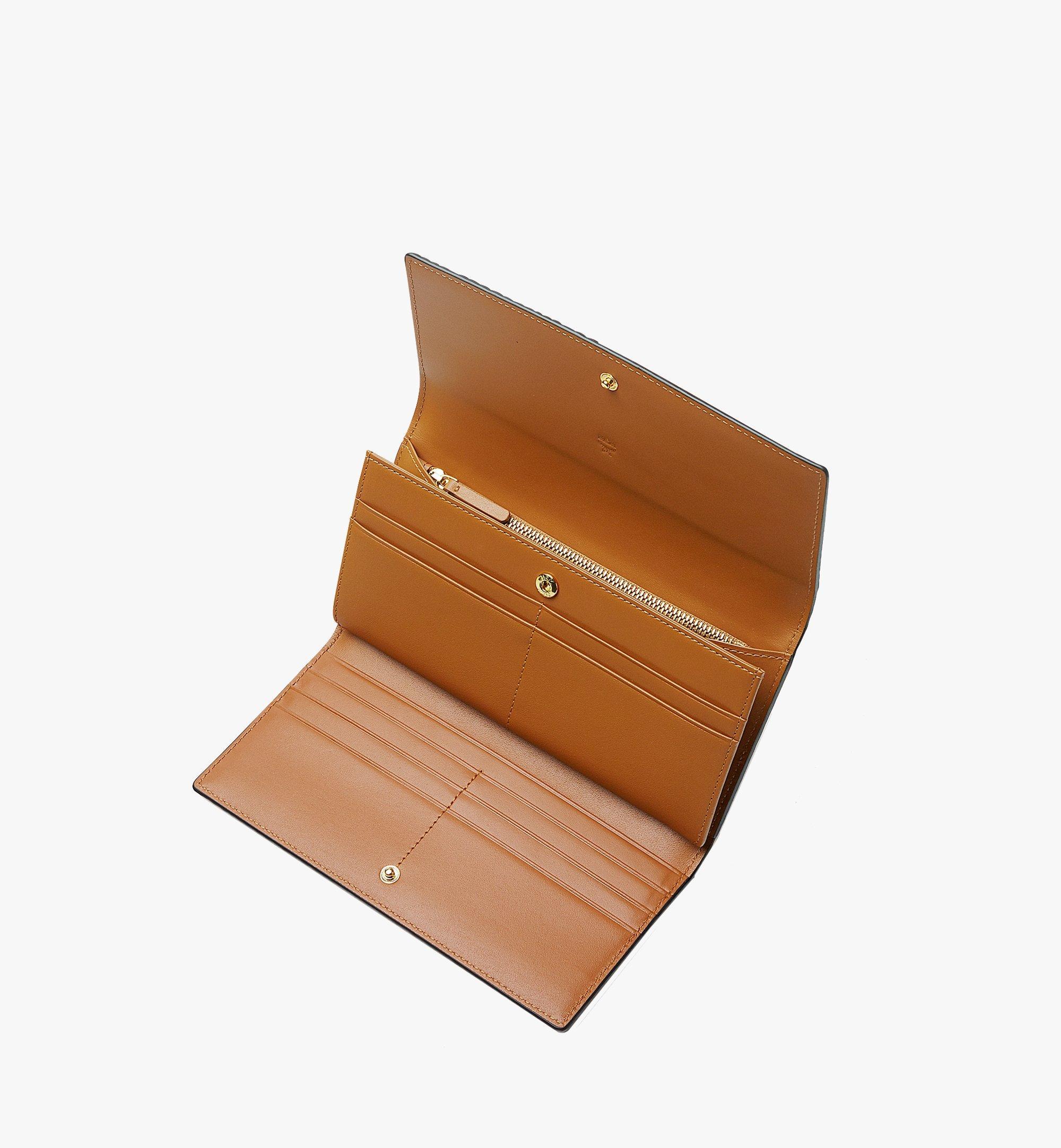 MCM Trifold Wallet in Visetos Original Cognac MYLAAVI01CO001 Alternate View 2