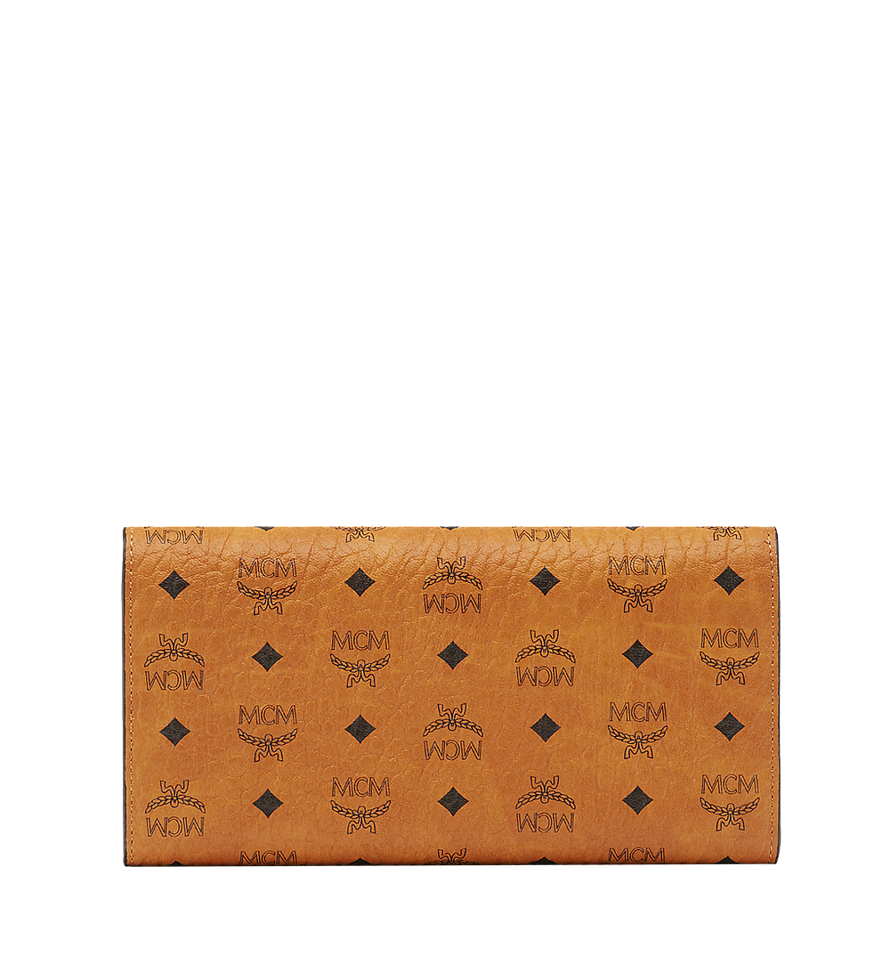 MCM Trifold Wallet in Visetos Original Cognac MYLAAVI01CO001 Alternate View 2
