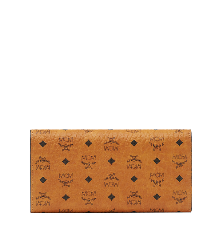 MCM Trifold Wallet in Visetos Original Cognac MYLAAVI01CO001 Alternate View 3