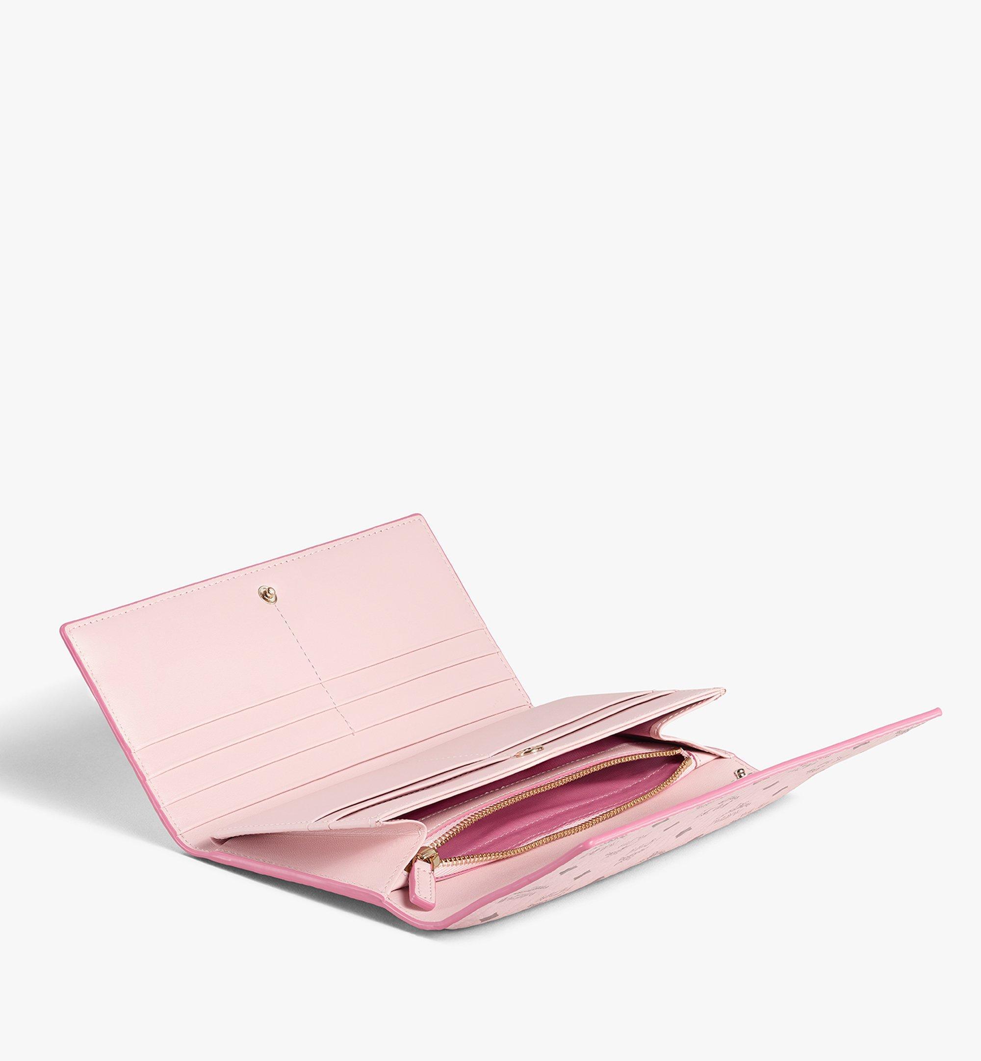 MCM Trifold Wallet in Visetos Original Pink MYLAAVI01QH001 Alternate View 1