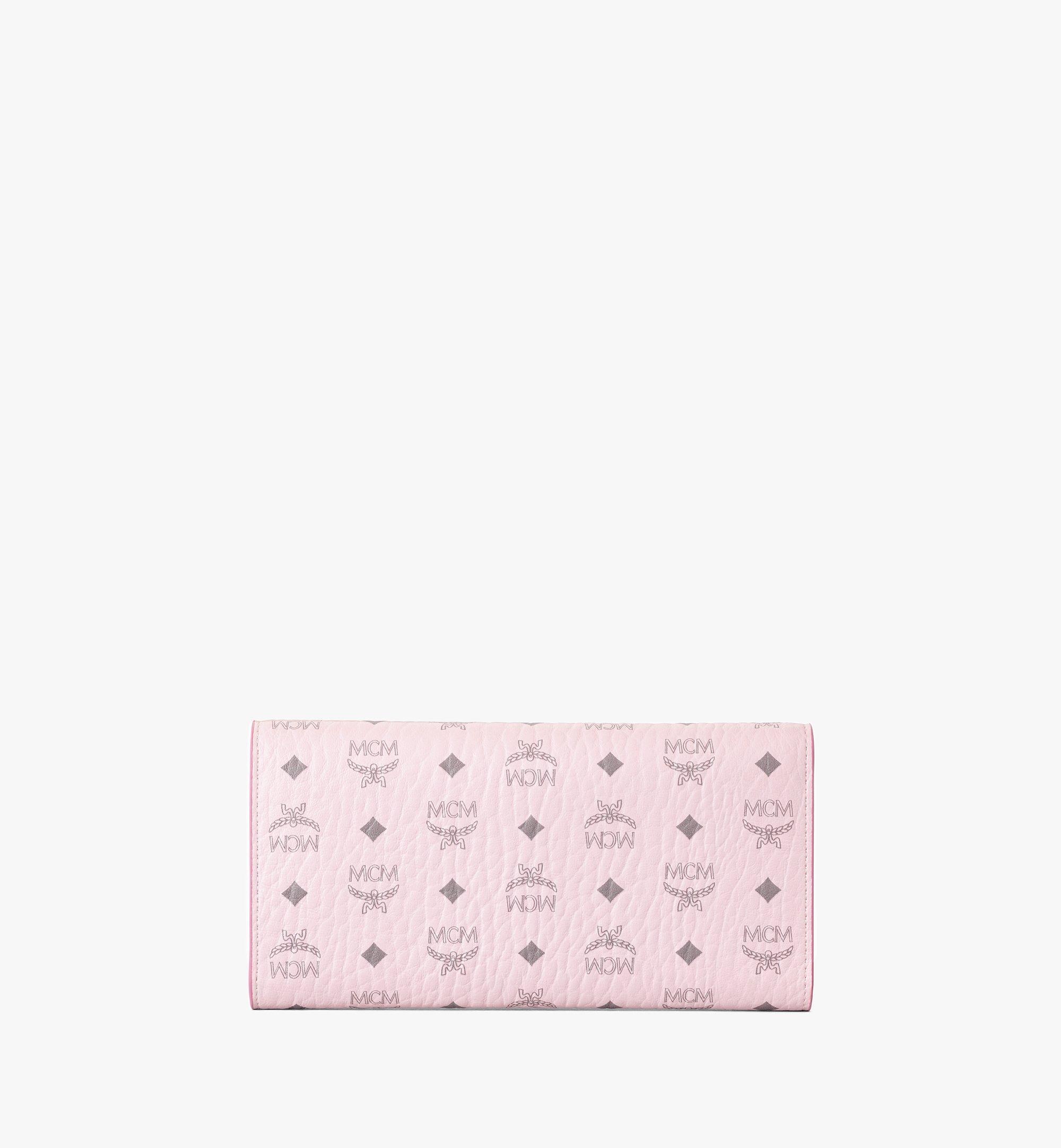 MCM Trifold Wallet in Visetos Original Pink MYLAAVI01QH001 Alternate View 2