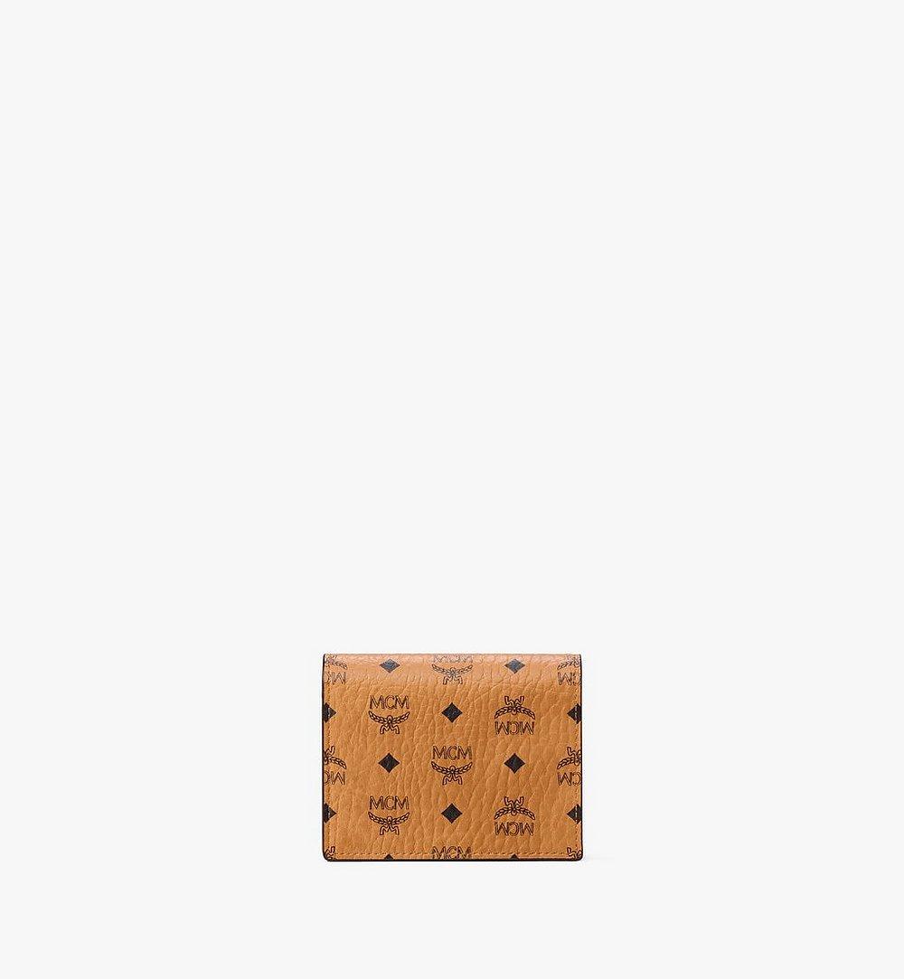 MCM Chain Wallet in Visetos Original Cognac MYLAAVI02CO001 Alternate View 1