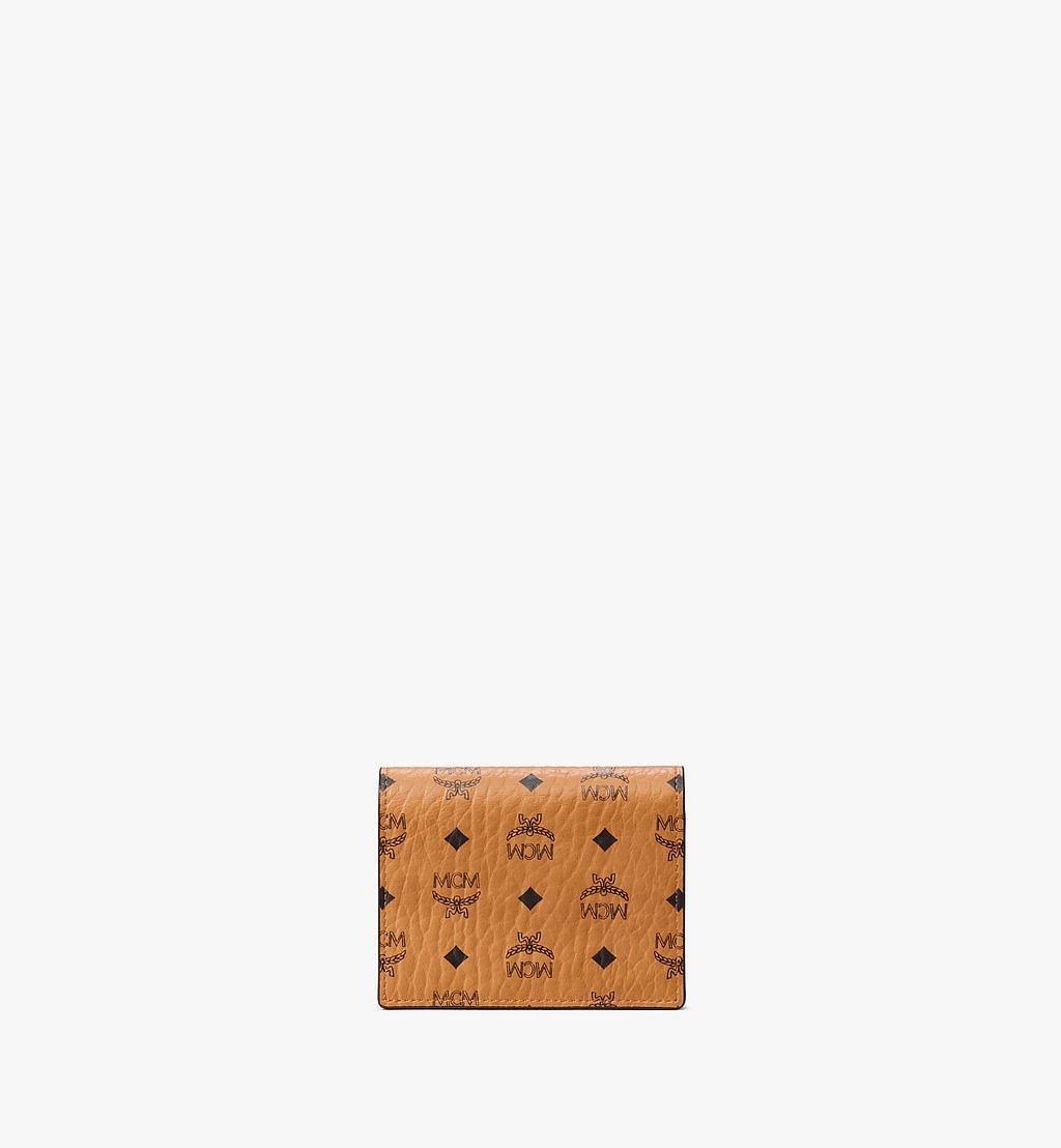 MCM Chain Wallet in Visetos Original Cognac MYLAAVI02CO001 Alternate View 2