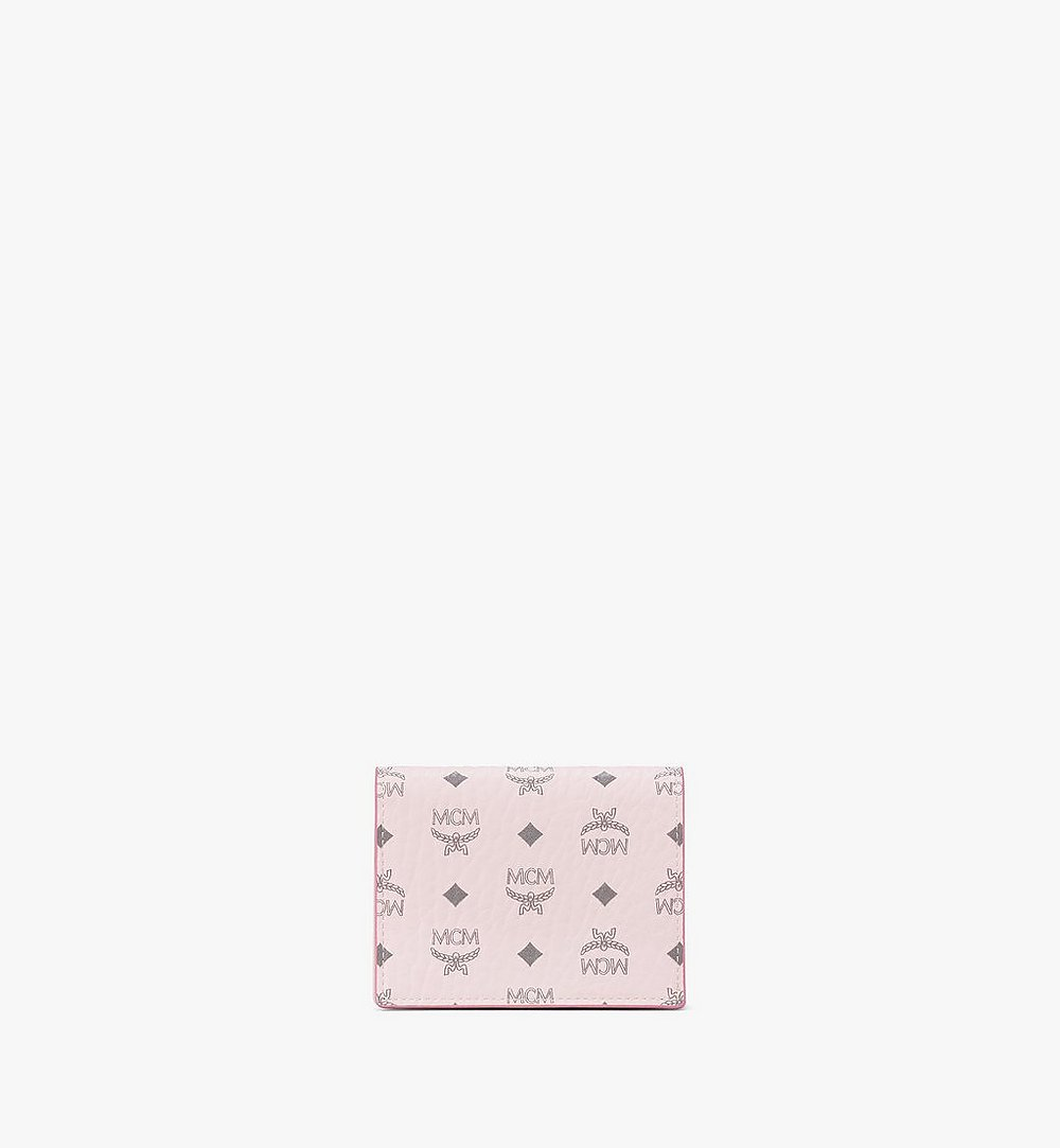 MCM Chain Wallet in Visetos Original Pink MYLAAVI02QH001 Alternate View 1