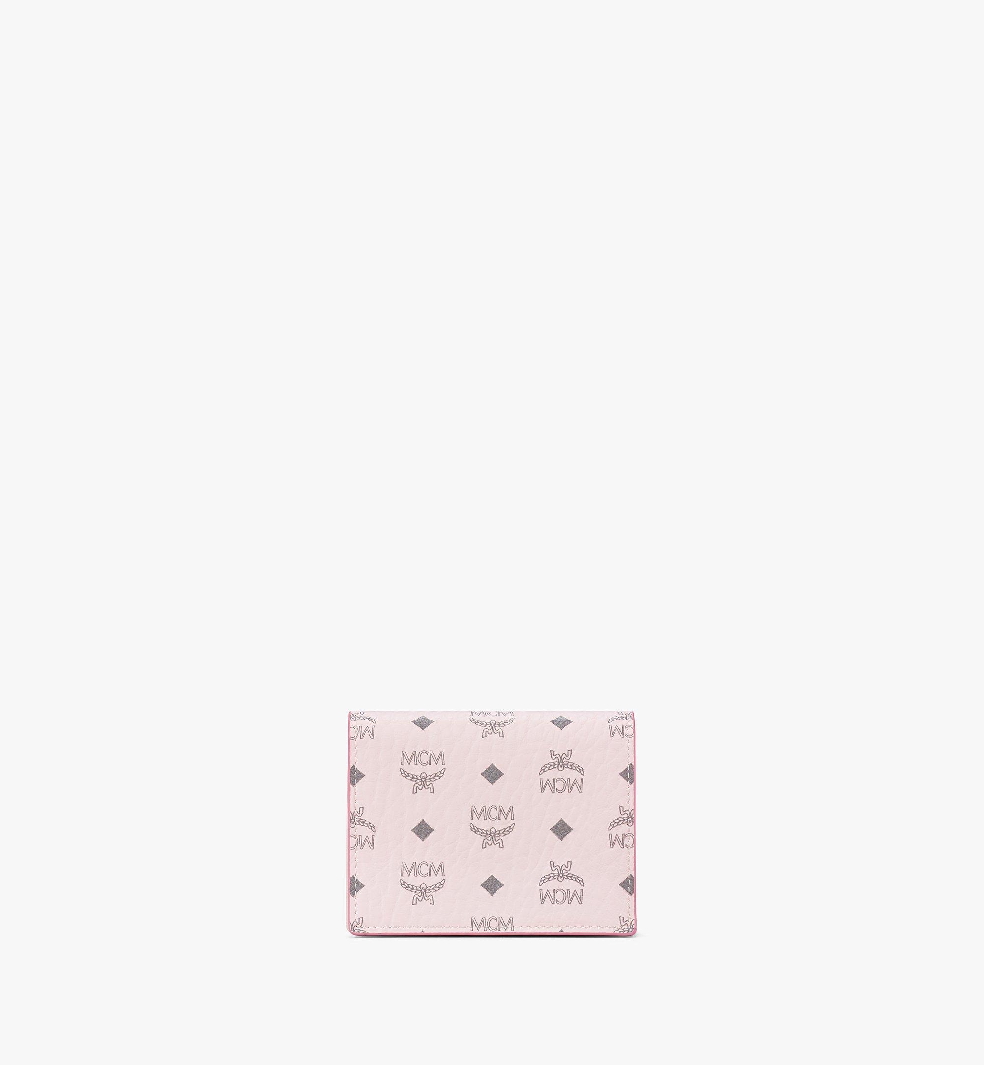 MCM Chain Wallet in Visetos Original Pink MYLAAVI02QH001 Alternate View 1