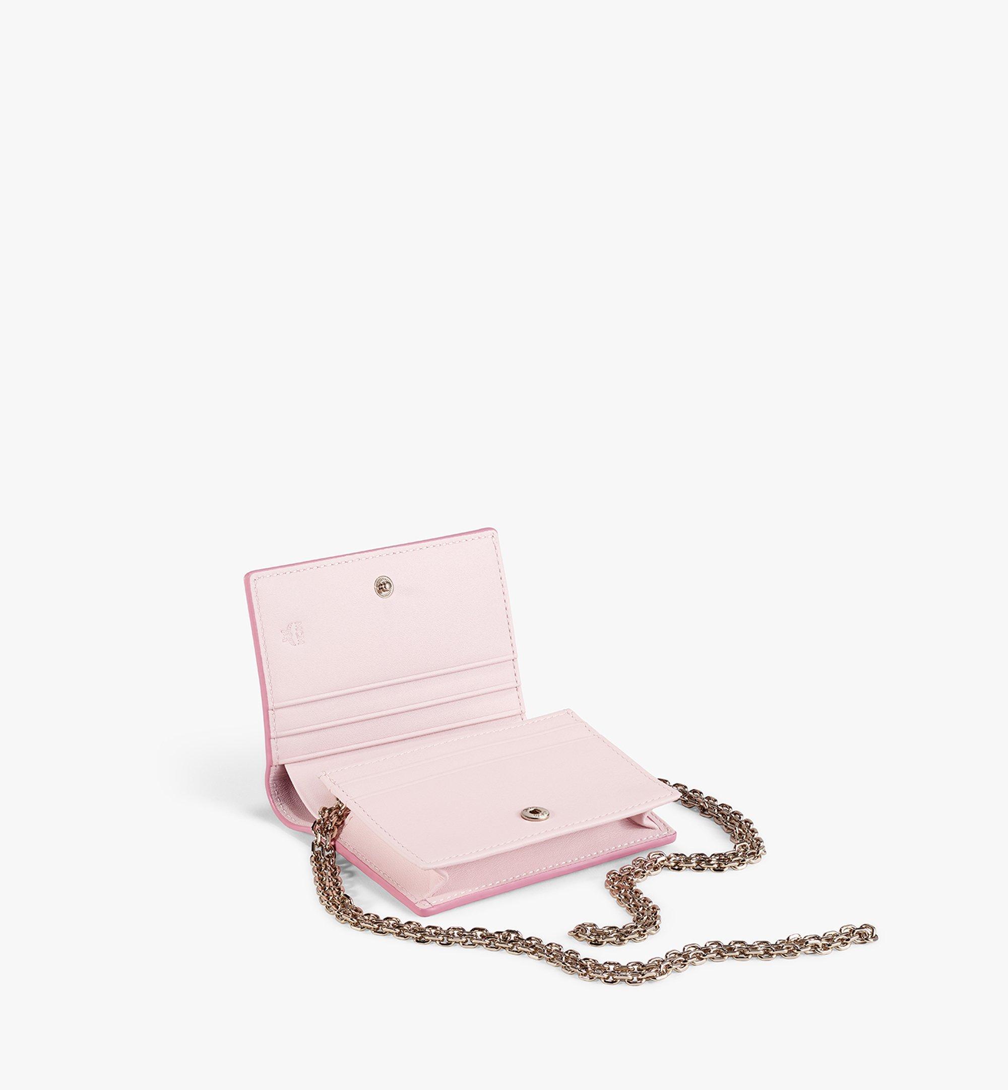 MCM Chain Wallet in Visetos Original Pink MYLAAVI02QH001 Alternate View 2