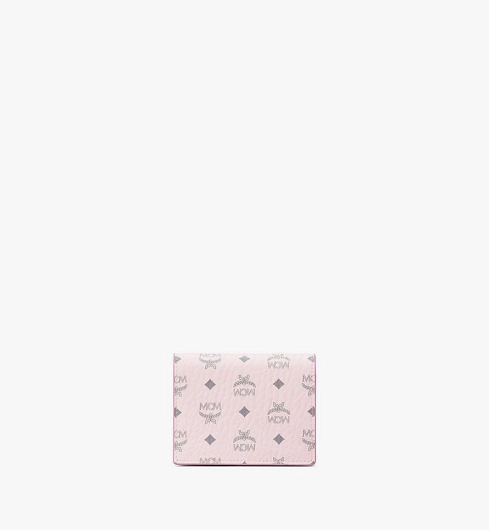 MCM Chain Wallet in Visetos Original Pink MYLAAVI02QH001 Alternate View 2