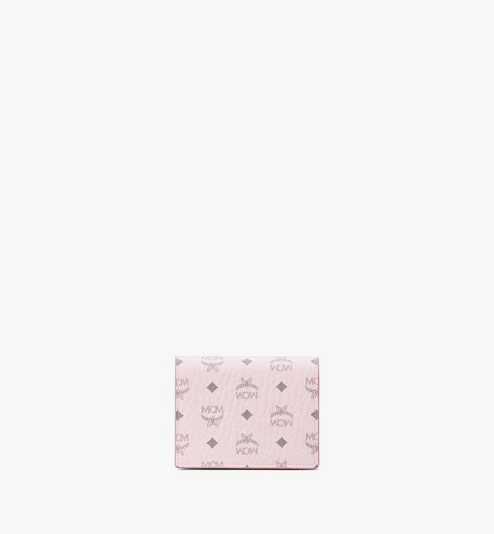 MCM Chain Wallet in Visetos Original Pink MYLAAVI02QH001 Alternate View 3