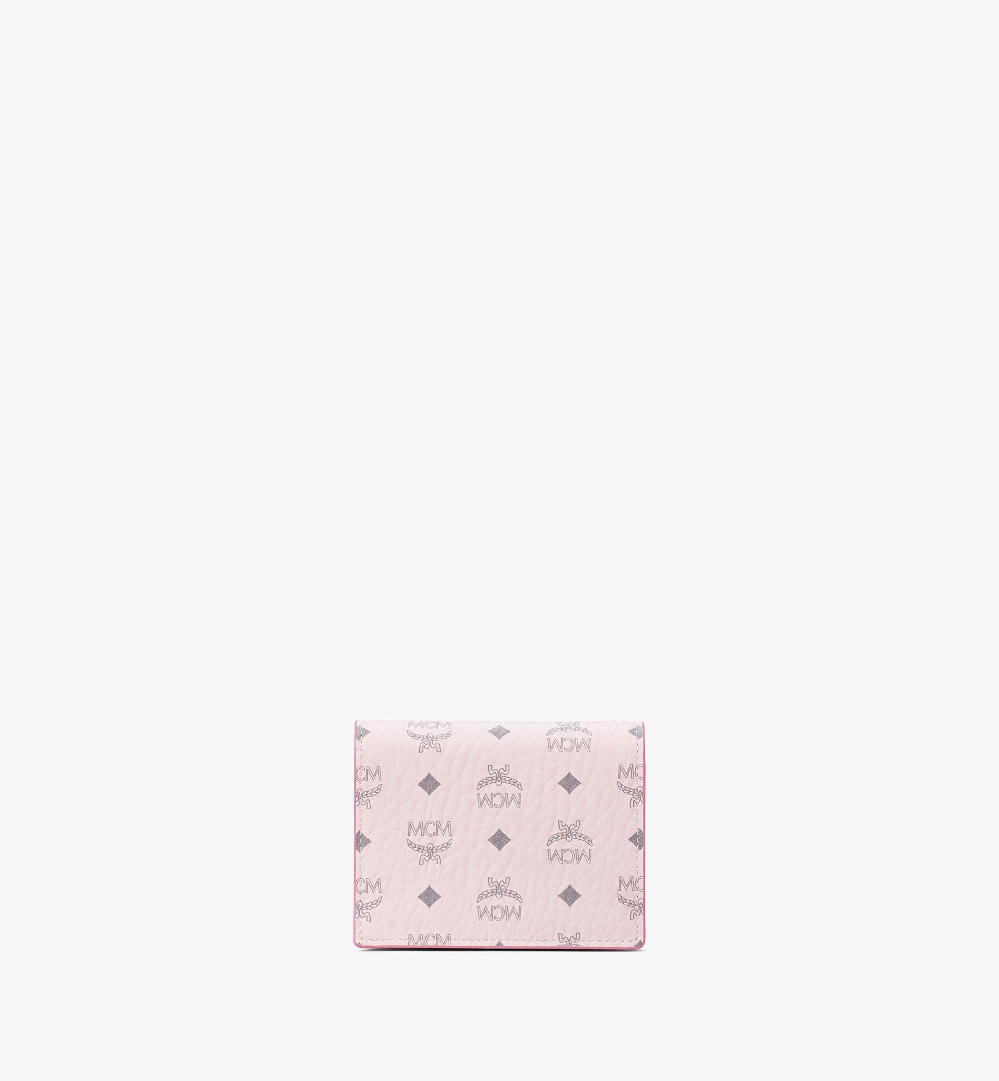 MCM Chain Wallet in Visetos Original Pink MYLAAVI02QH001 Alternate View 3