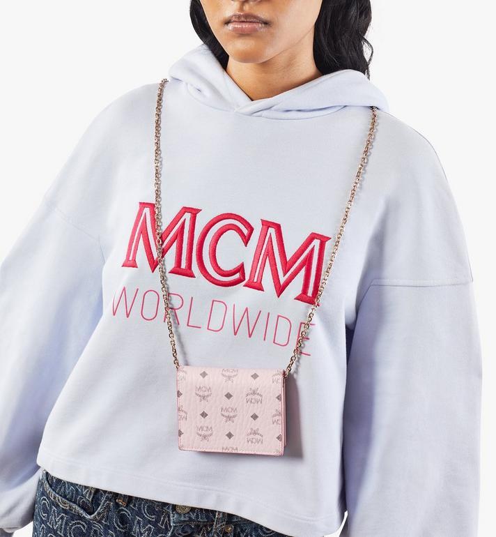 MCM 〈ヴィセトス オリジナル〉チェーンウォレット Pink MYLAAVI02QH001 Alternate View 5