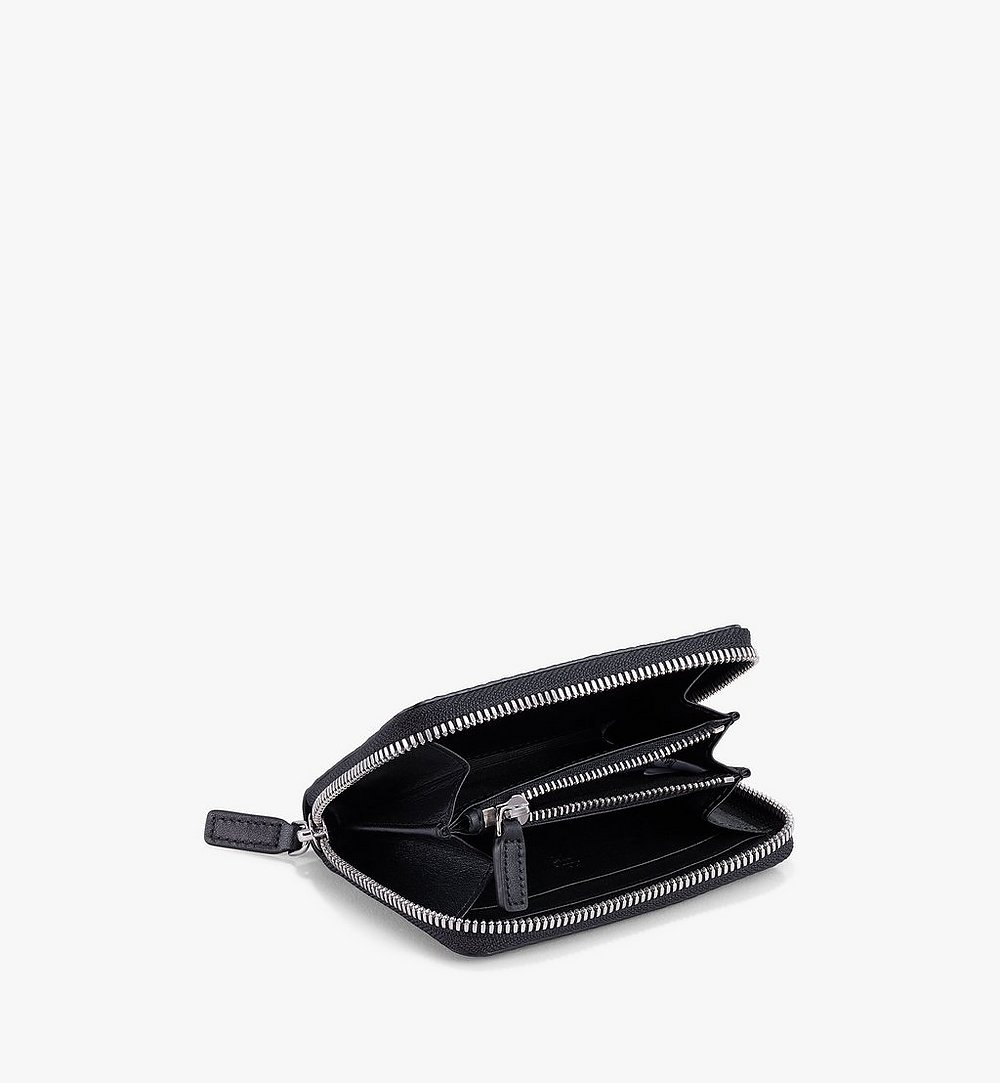 MCM Zip Wallet in Visetos Original Black MYLAAVI03BK001 Alternate View 1
