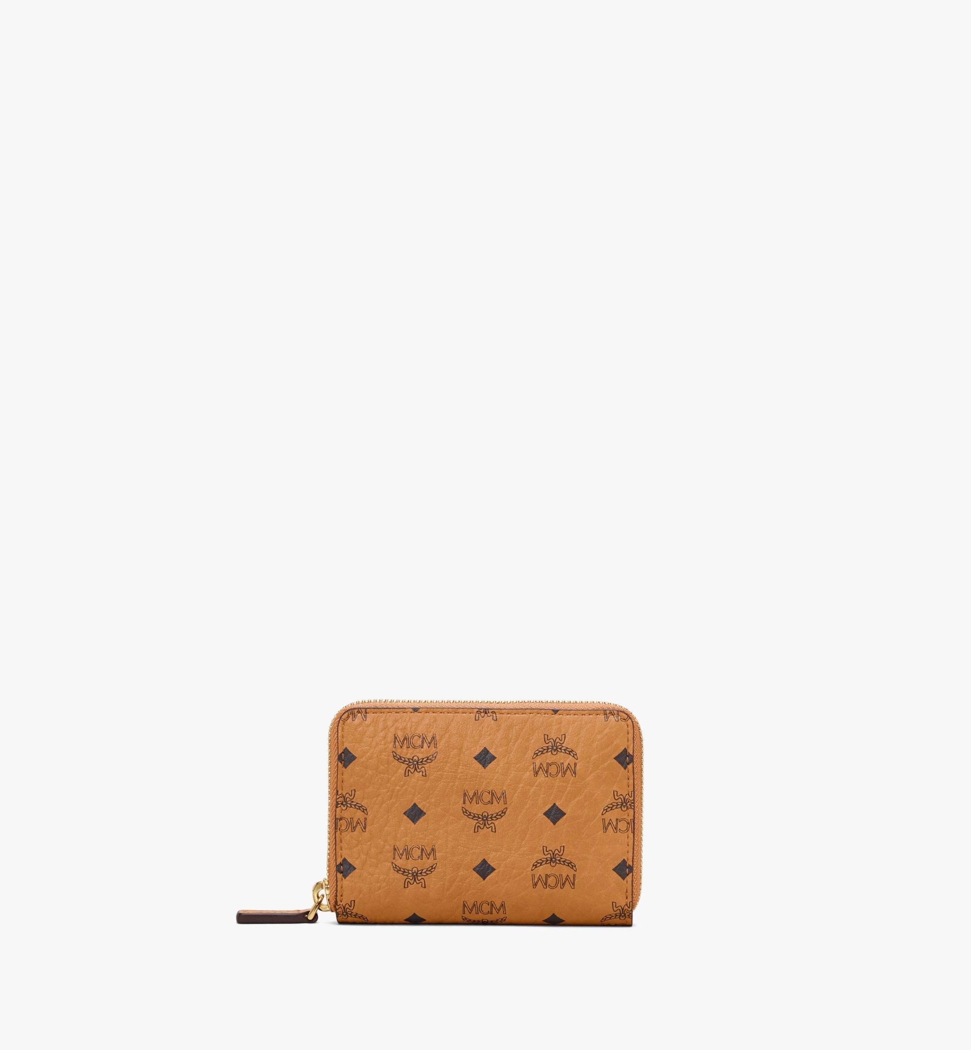 MCM Zip Wallet in Visetos Original Cognac MYLAAVI03CO001 Alternate View 1