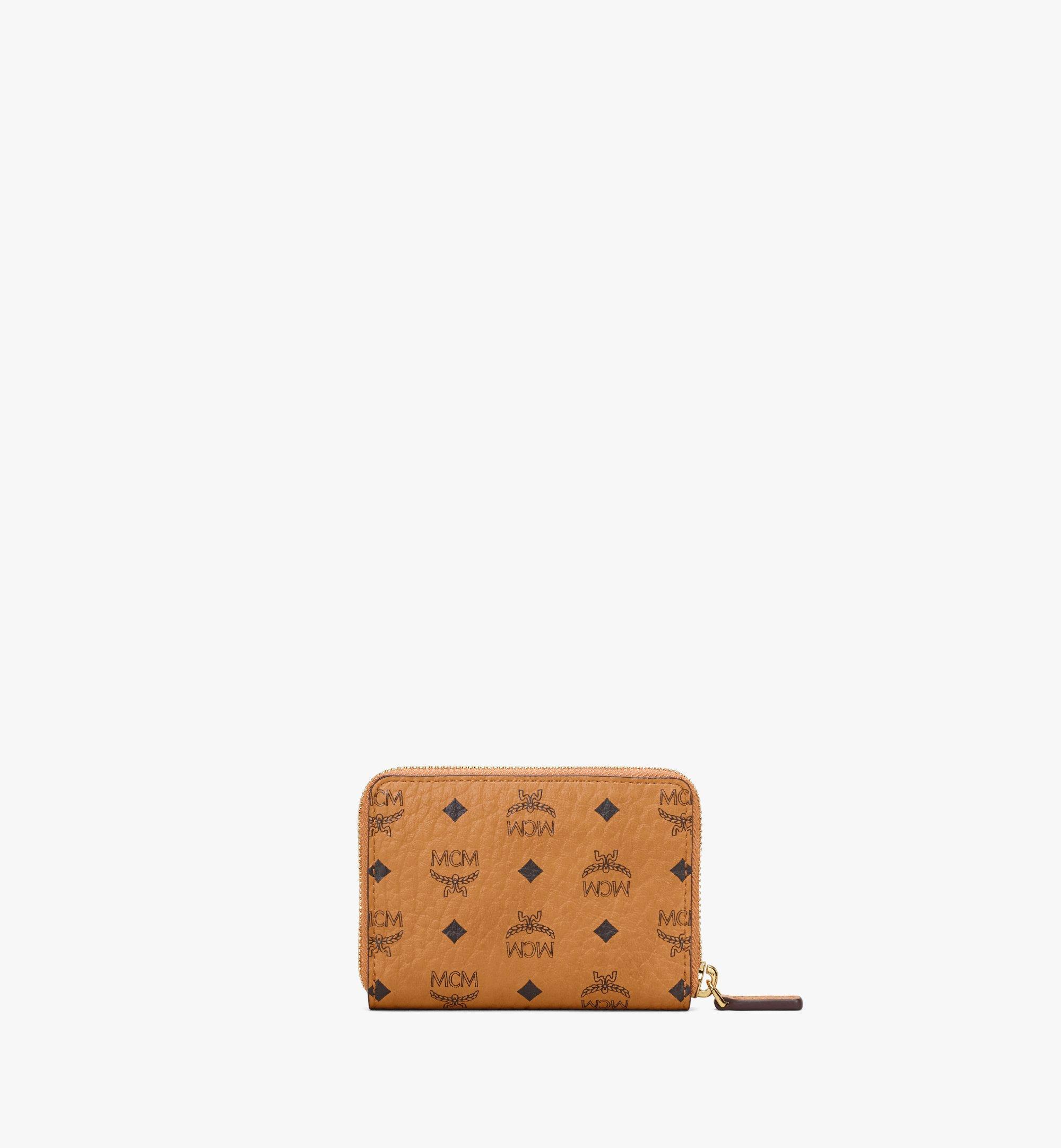MCM Brieftasche in Visetos Original mit Reissverschluss Cognac MYLAAVI03CO001 Noch mehr sehen 2